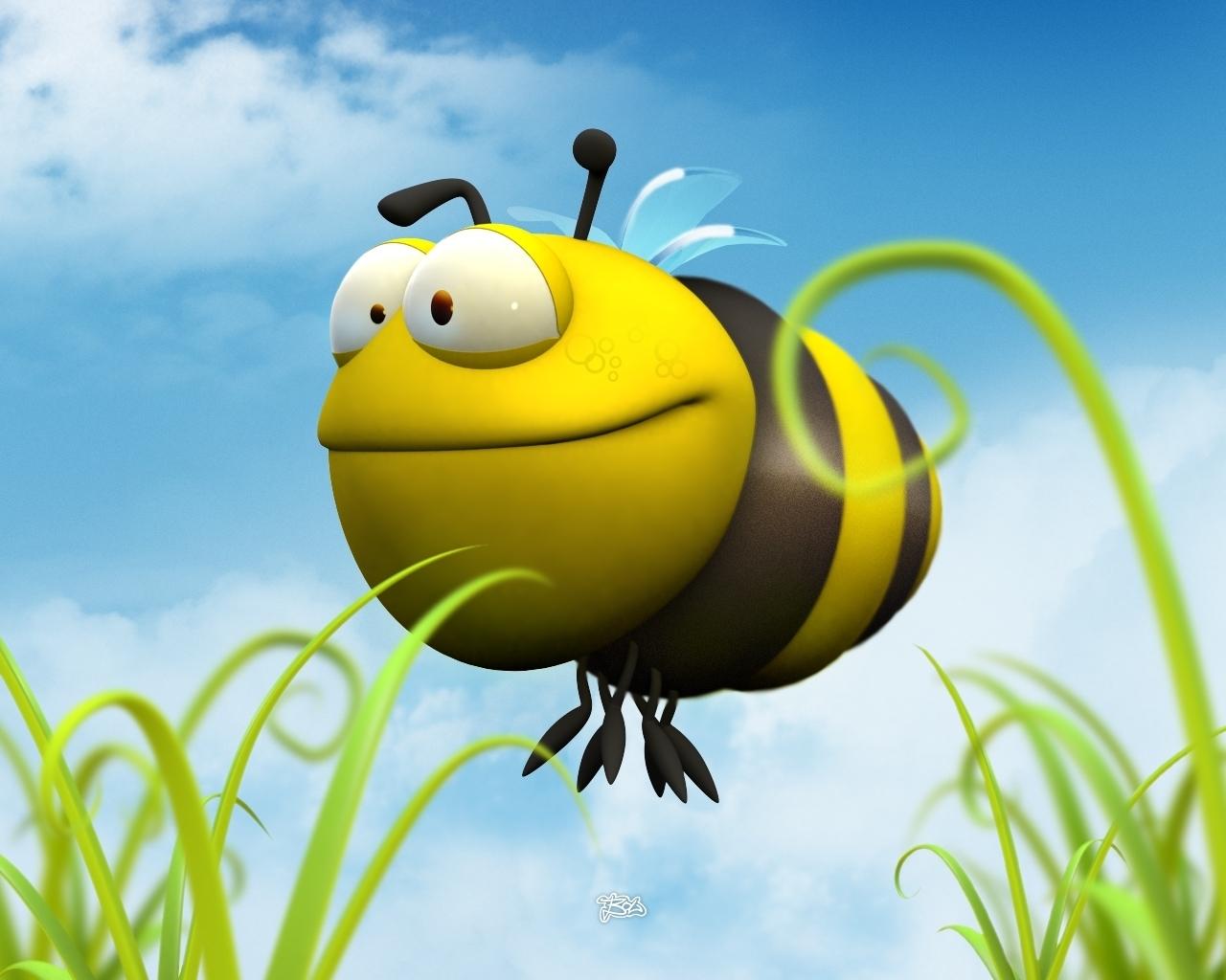 Handy-Wallpaper Humor, Bienen kostenlos herunterladen.