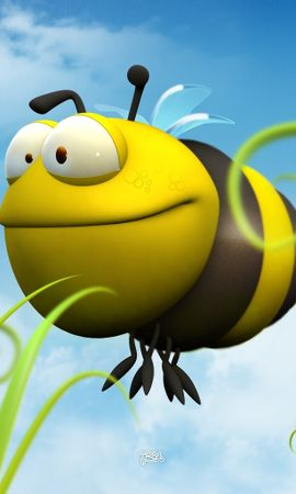 3641 download wallpaper Funny, Bees screensavers and pictures for free