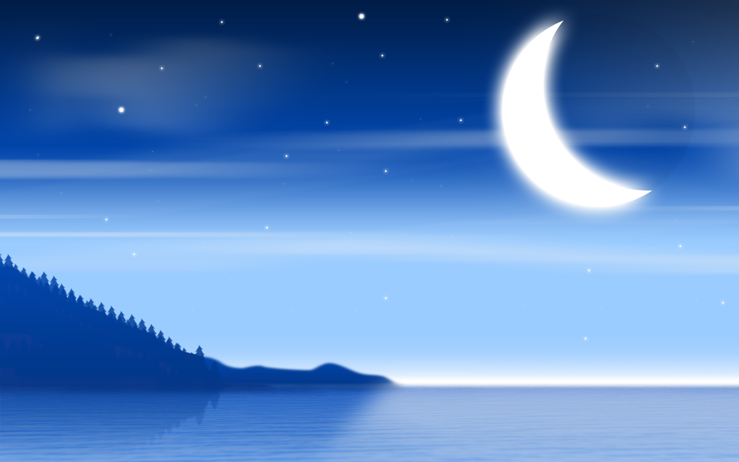 15624 скачать обои Пейзаж, Ночь, Луна - заставки и картинки бесплатно