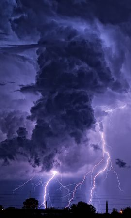 33464 скачать обои Пейзаж, Облака, Молнии - заставки и картинки бесплатно