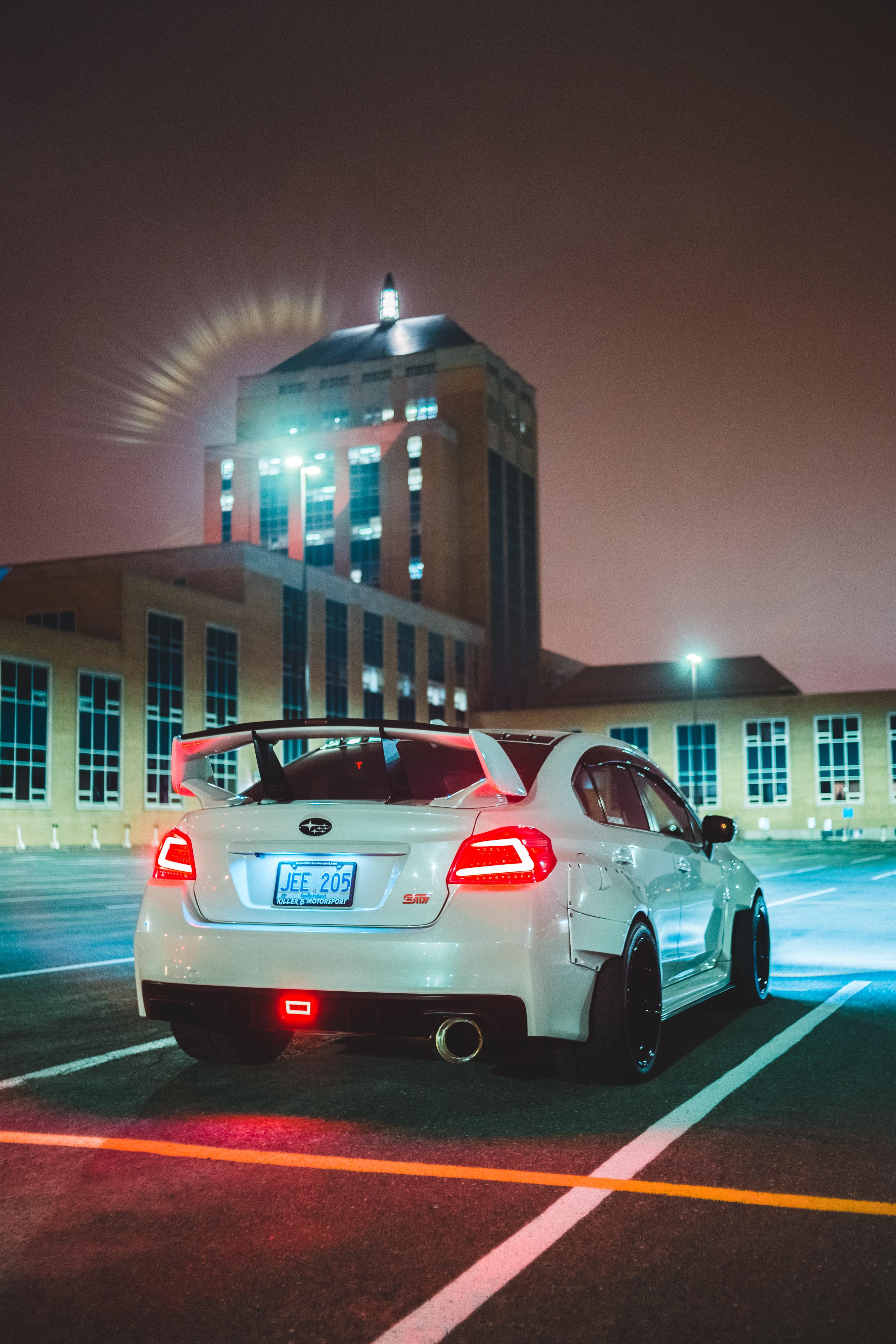 127807 Screensavers and Wallpapers Subaru for phone. Download Subaru, Cars, Car, Back View, Rear View, Spoiler, Subaru Sti pictures for free
