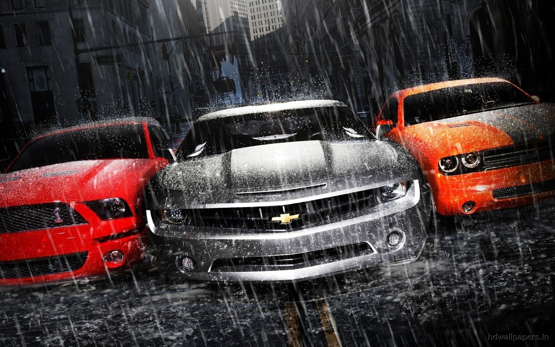 23336 скачать обои Шевроле (Chevrolet), Транспорт, Машины, Дождь - заставки и картинки бесплатно