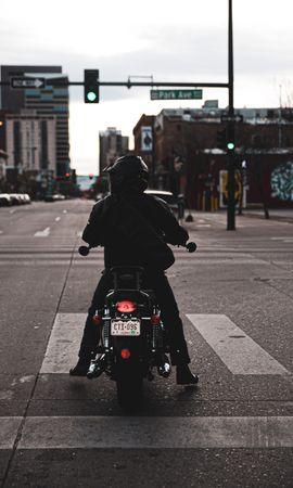 154715 télécharger le fond d'écran Moto, Motocycliste, Motard, Cycliste, Motocyclette, Le Noir, Route - économiseurs d'écran et images gratuitement