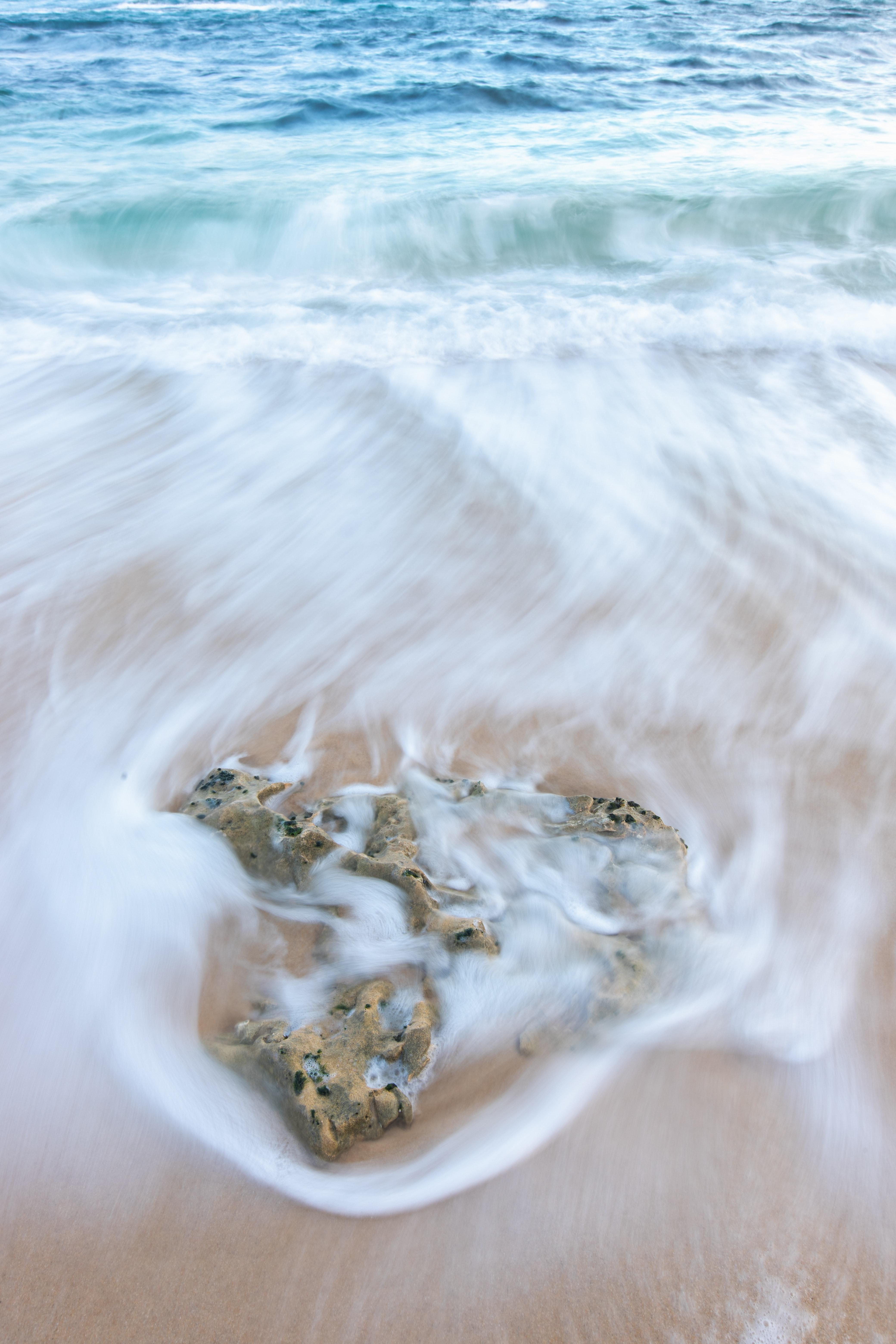 150959壁紙のダウンロード自然, ビーチ, 岩石, 石, 海, 波-スクリーンセーバーと写真を無料で