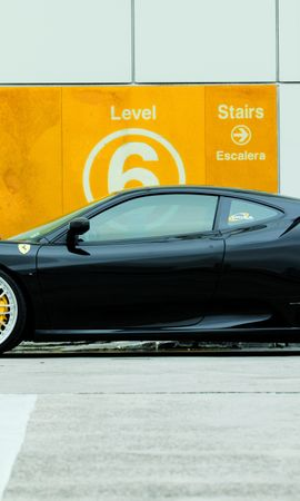 70199 télécharger le fond d'écran Voitures, Ferrari F430, Ferrari, Le Noir, Vue De Côté - économiseurs d'écran et images gratuitement