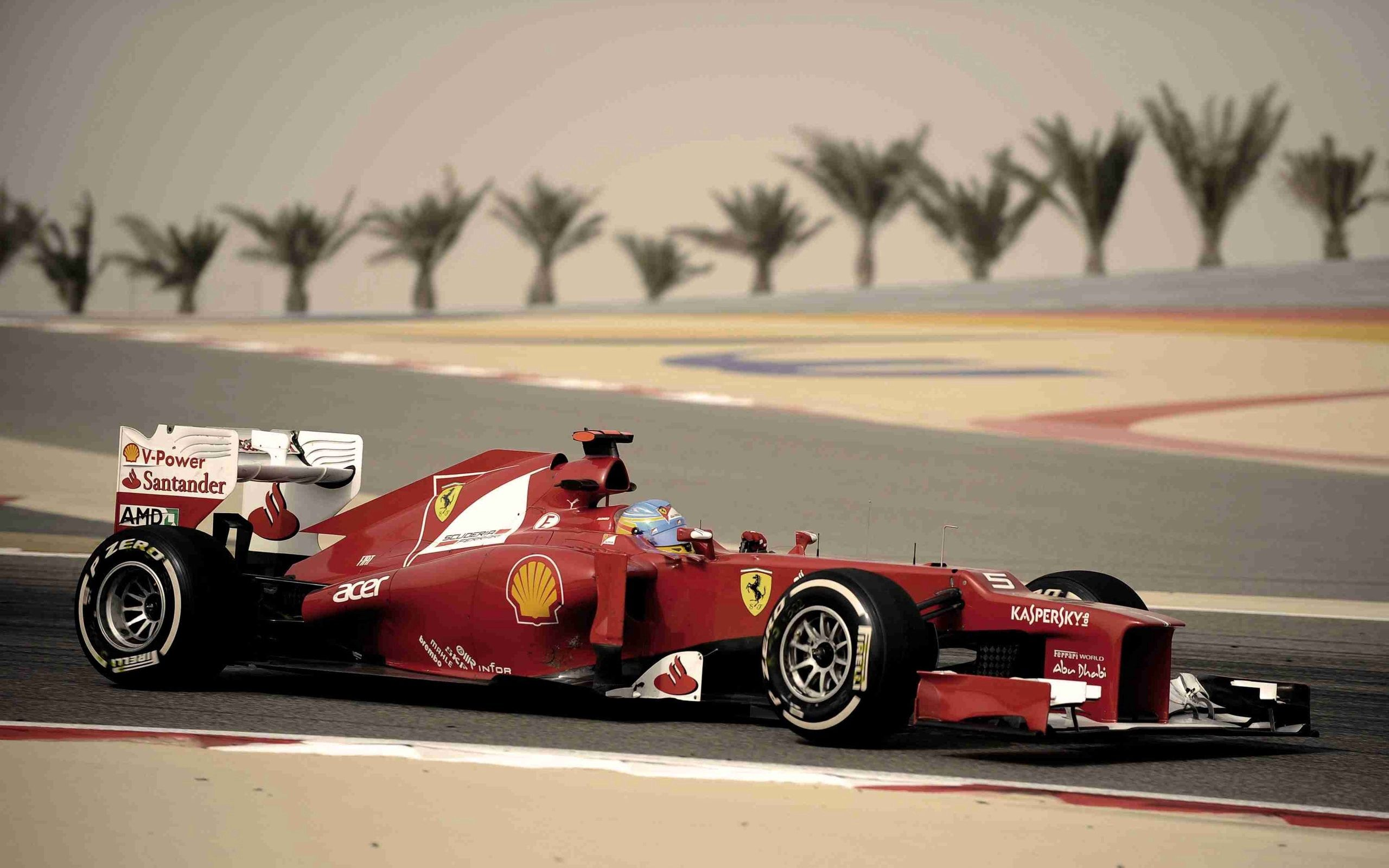 51582 download wallpaper Sports, Ferrari, Alonso, Bahrain screensavers and pictures for free