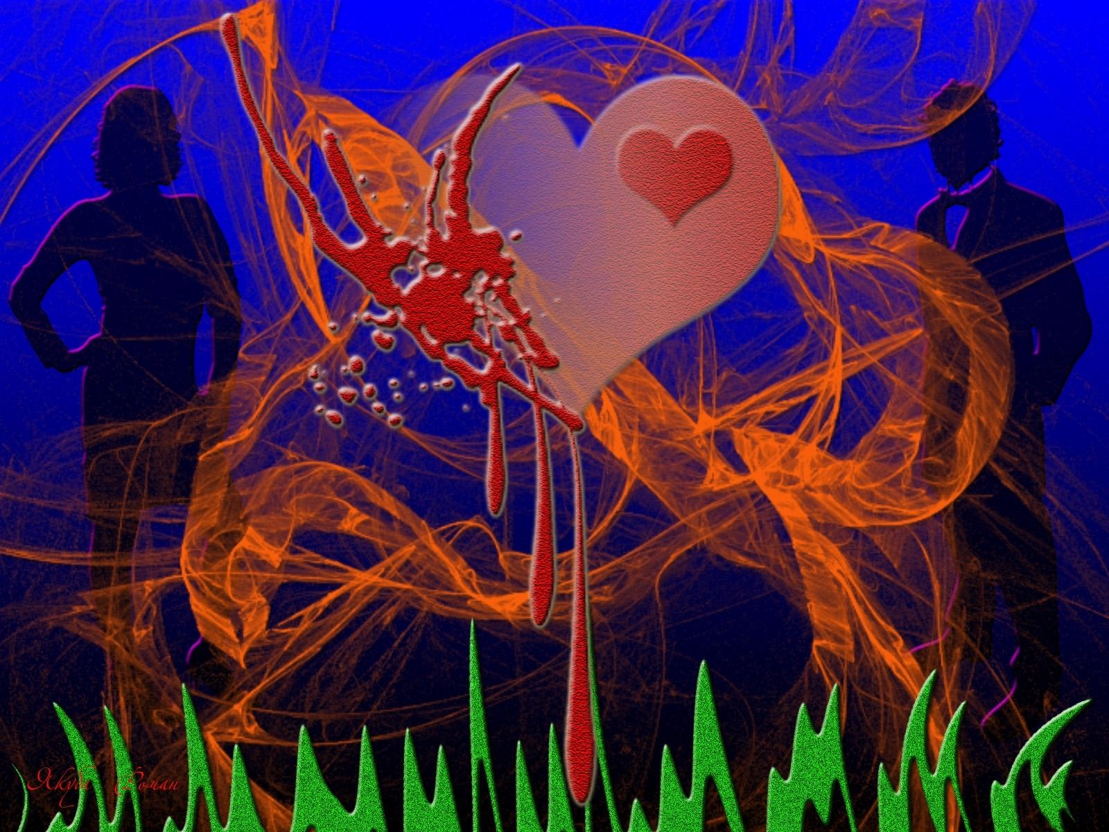 7804 скачать обои Сердца, Любовь, День Святого Валентина (Valentine's Day), Рисунки - заставки и картинки бесплатно