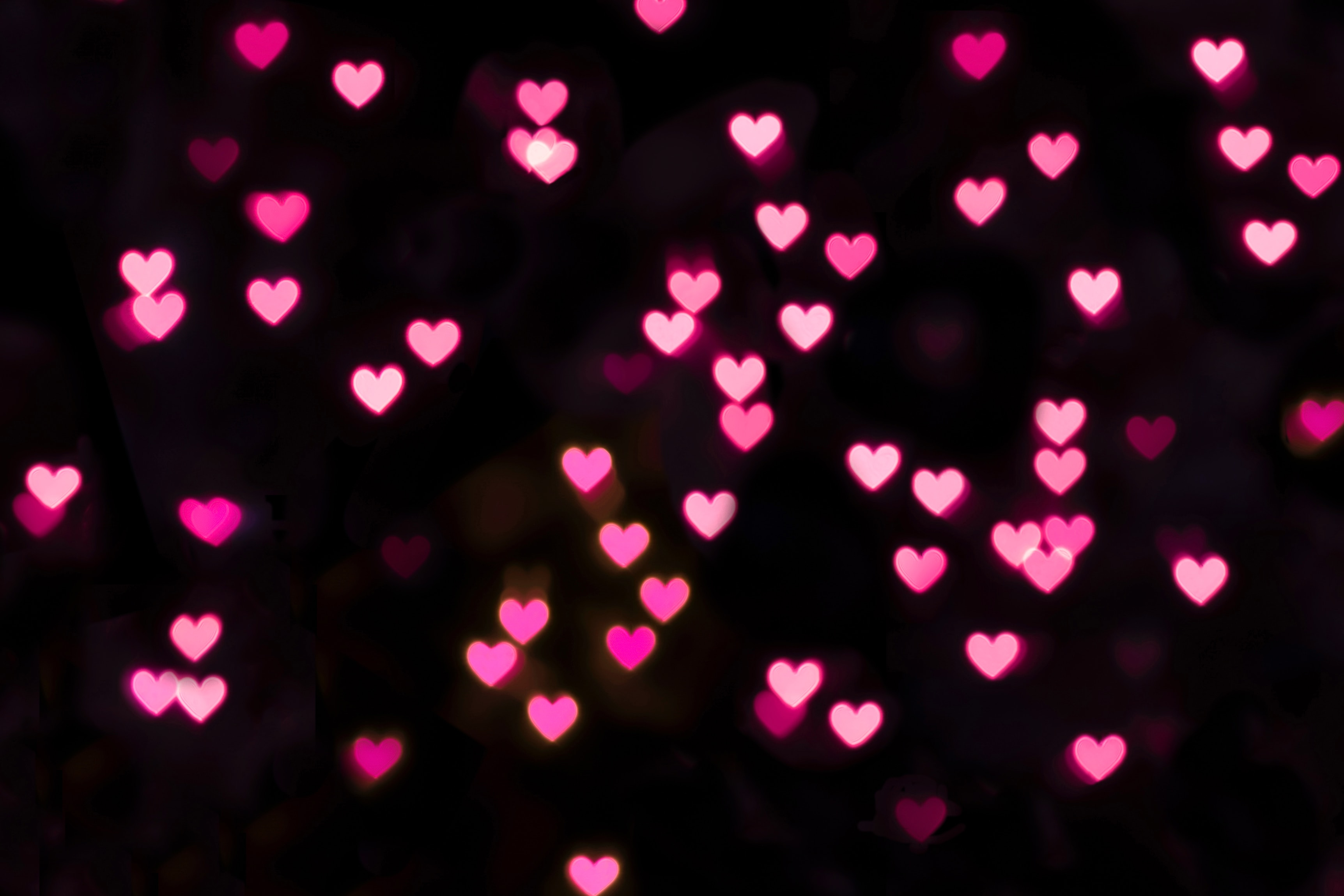 66727 download wallpaper Hearts, Lights, Glow, Pink, Love screensavers and pictures for free