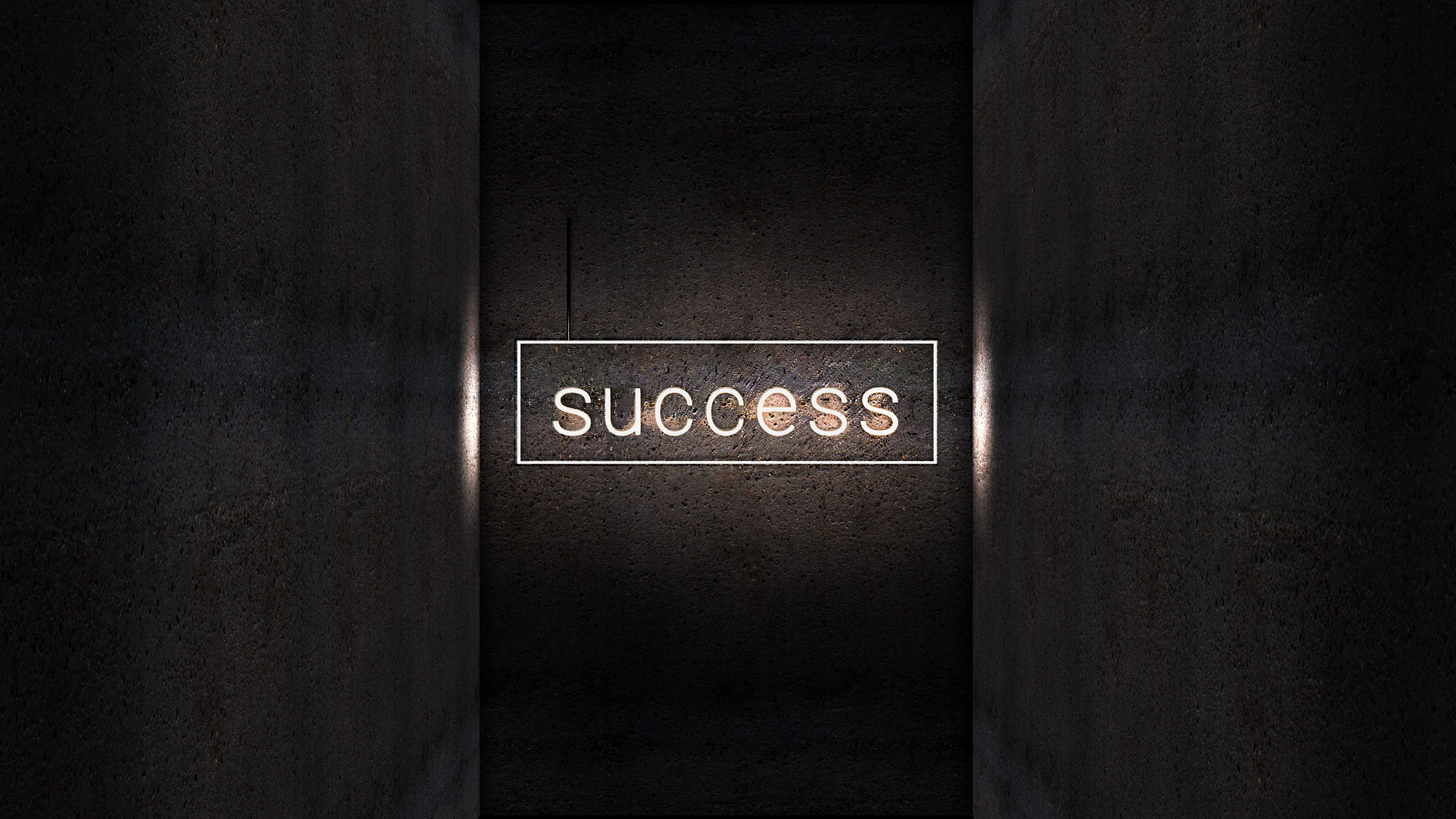 115014 download wallpaper Light, Words, Shine, Neon, Inscription, Success screensavers and pictures for free
