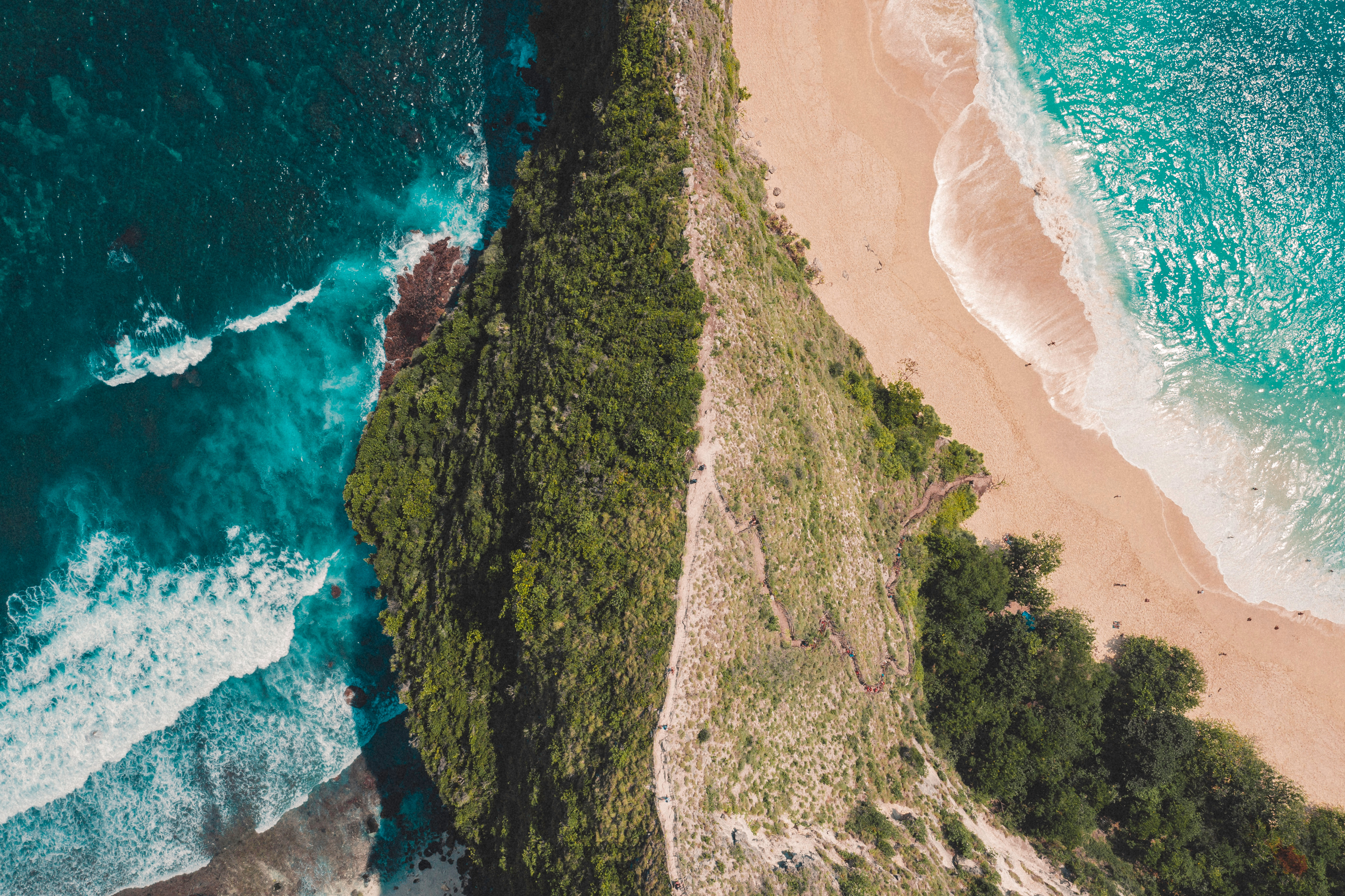 65497 Screensavers and Wallpapers Island for phone. Download Nature, View From Above, Shore, Bank, Ocean, Greens, Island, Surf pictures for free