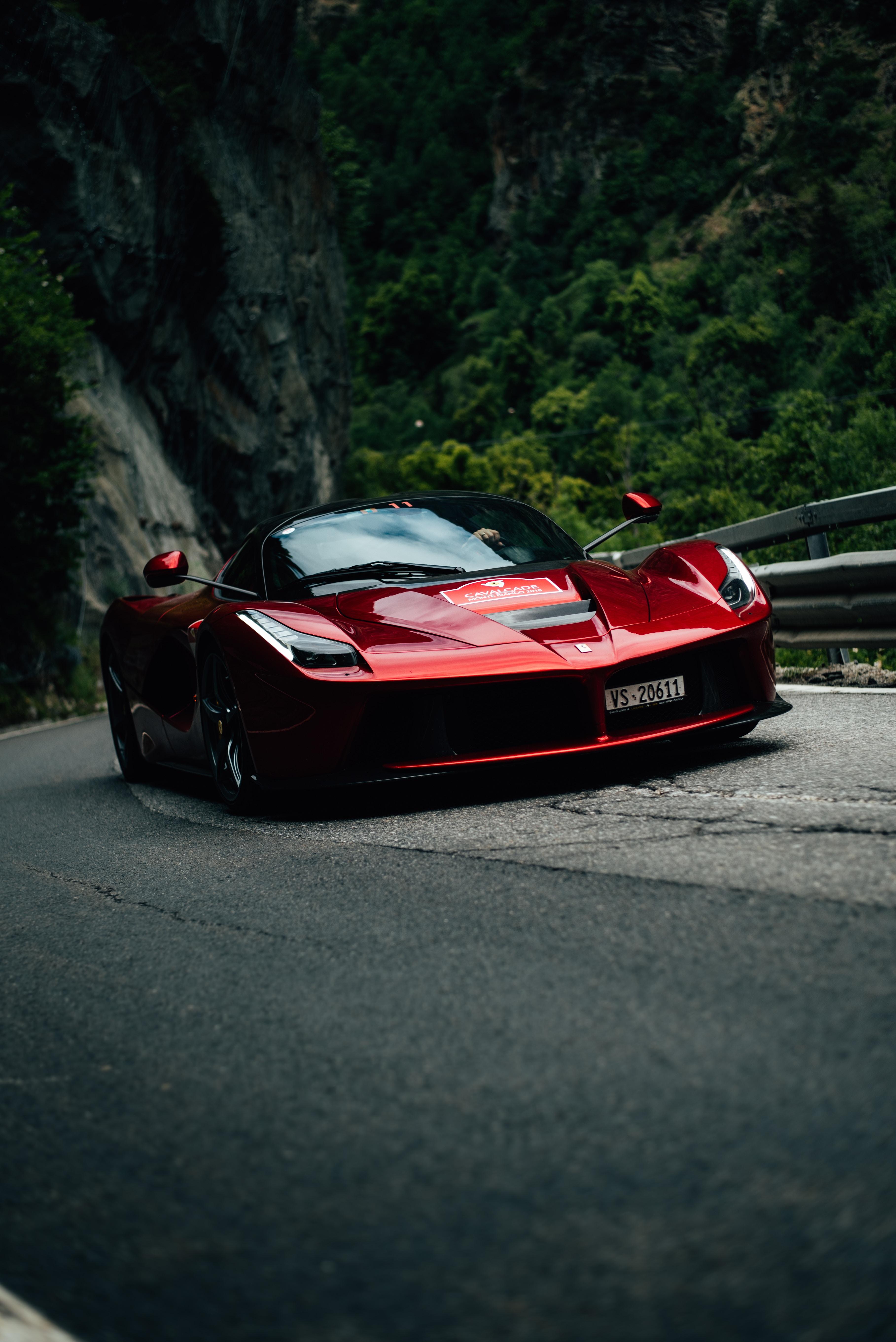 82913 download wallpaper Cars, Laferrari, Ferrari F70, Sports Car, Sports, Traffic, Movement screensavers and pictures for free