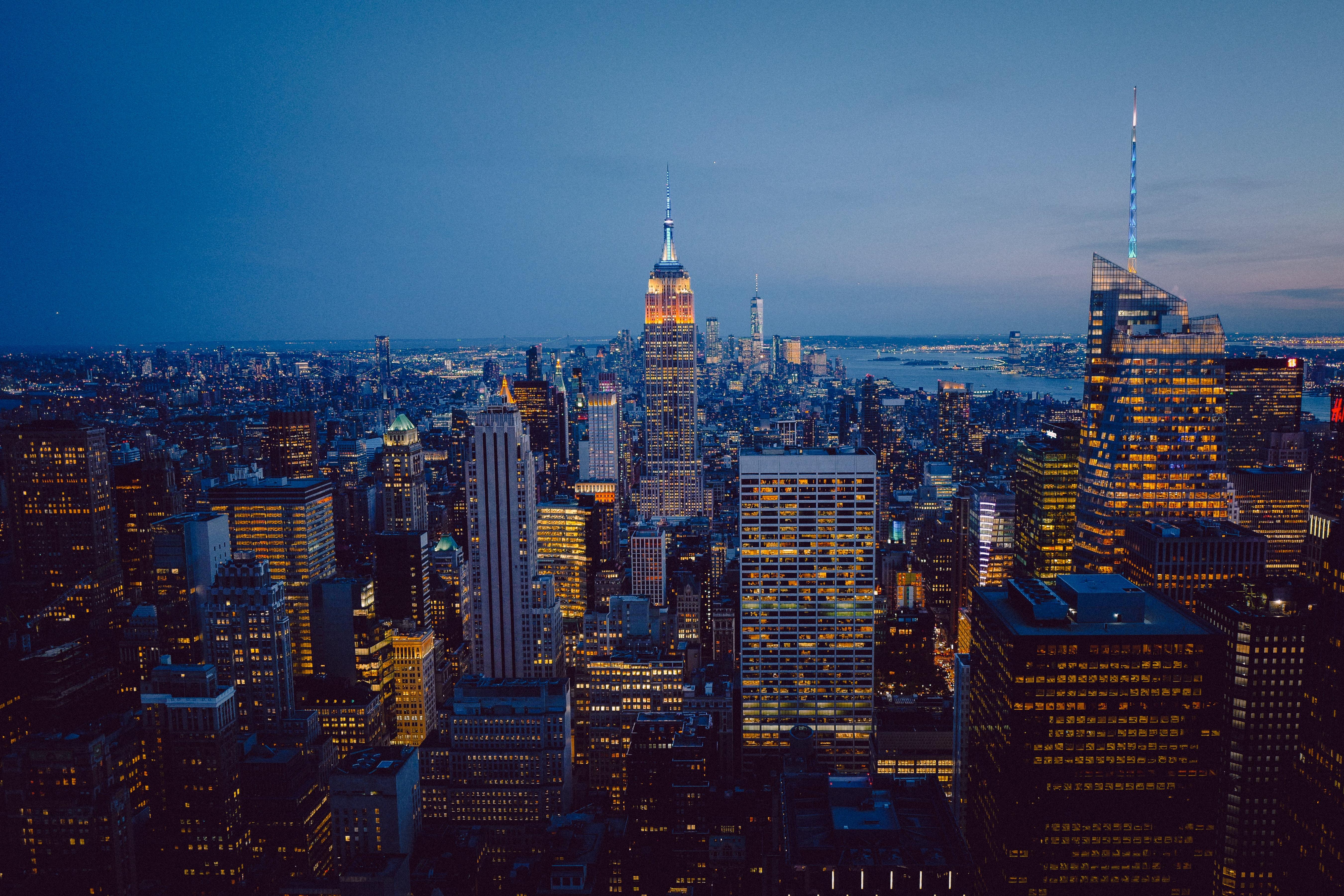 134047 Hintergrundbild 128x160 kostenlos auf deinem Handy, lade Bilder Städte, Architektur, Stadt, Gebäude, Blick Von Oben, Megapolis, Megalopolis, New York, Städtisch, Städtischen 128x160 auf dein Handy herunter