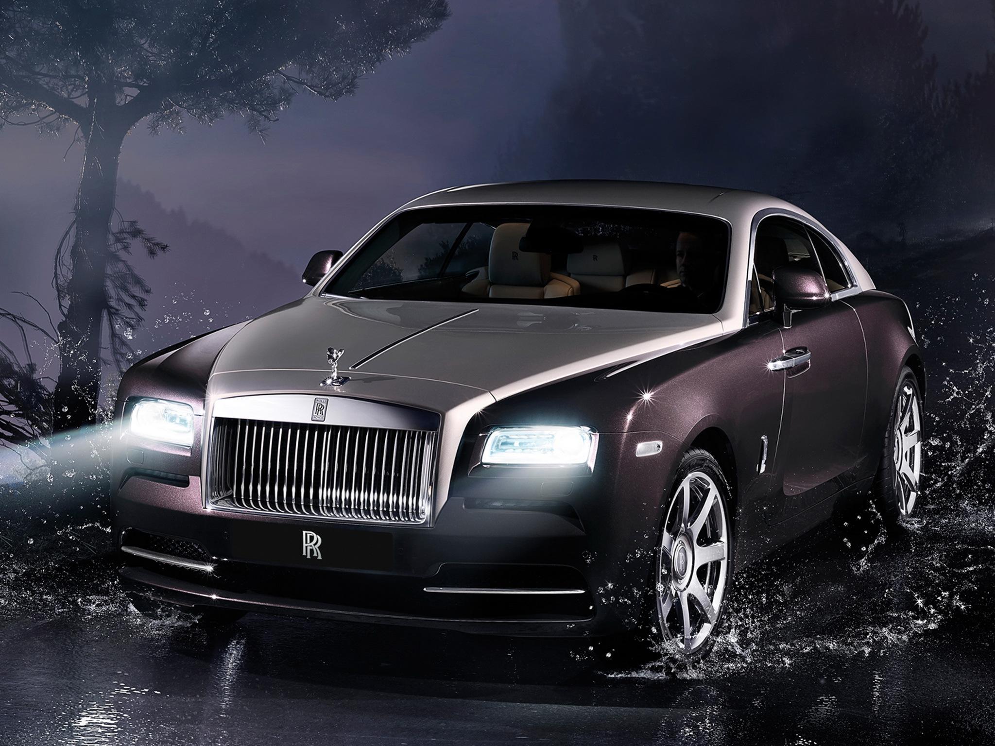 105801 Заставки и Обои Вид Спереди на телефон. Скачать Вид Спереди, Ночь, Тачки (Cars), Rolls-Royce, Wraith, Rolls-Royce Wraith 2013 картинки бесплатно