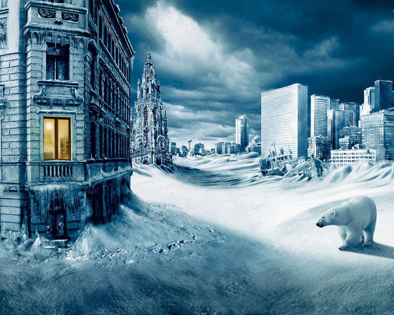 9087 скачать обои Пейзаж, Города, Зима, Арт, Медведи, Москва - заставки и картинки бесплатно