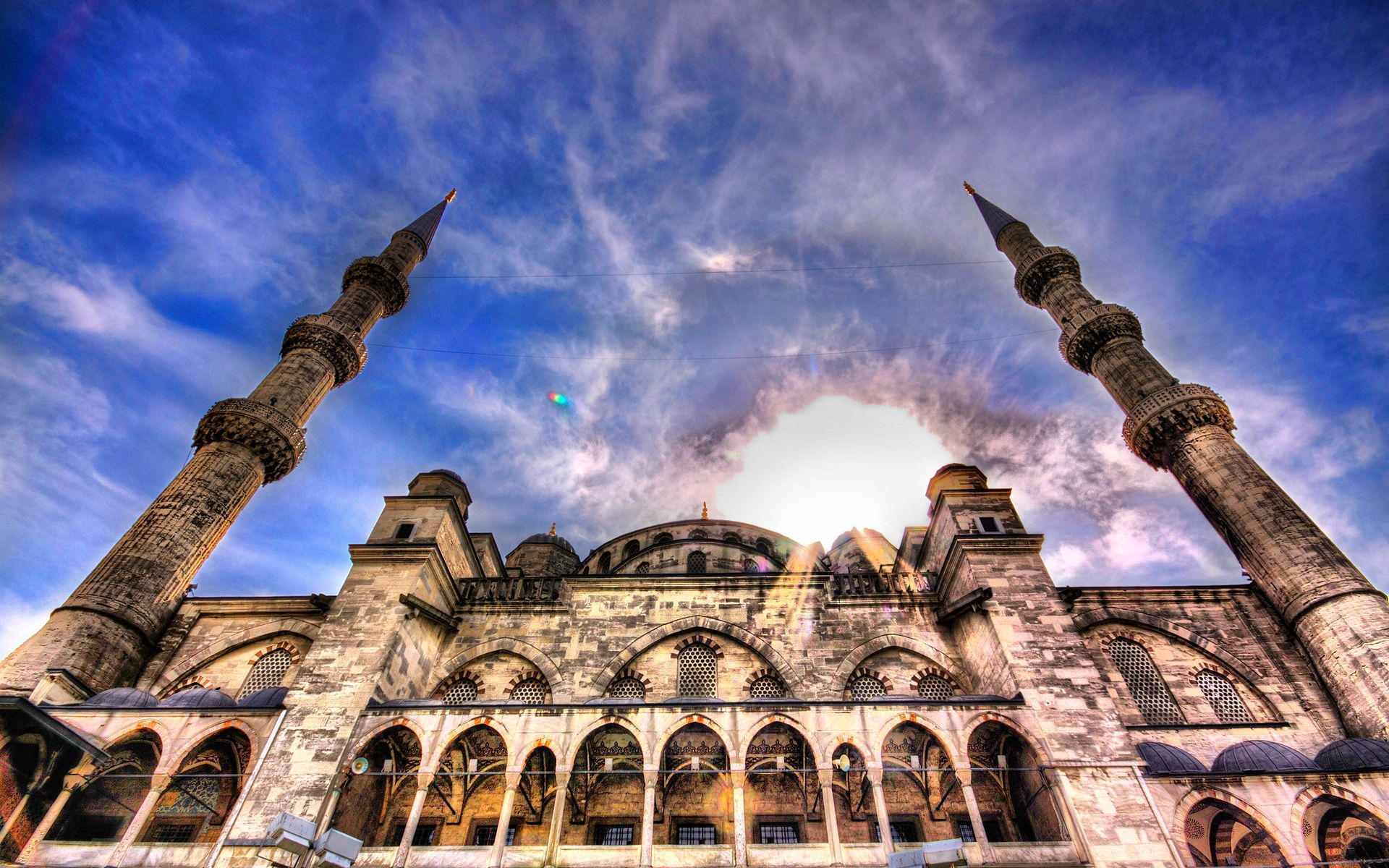 63630 download wallpaper Mosque, Sky, Hdr, Architecture, Cities screensavers and pictures for free