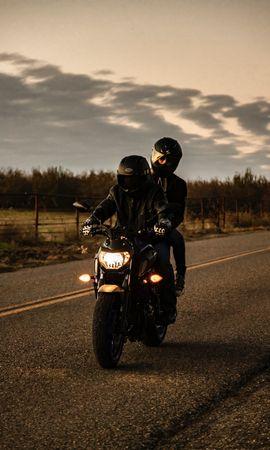 79998 télécharger le fond d'écran Moto, Motocyclette, Le Noir, Bicyclette, Vélo, Motards, Route - économiseurs d'écran et images gratuitement