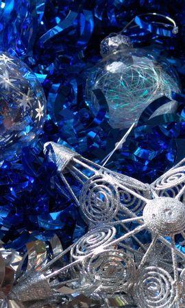 96687 descargar fondo de pantalla Vacaciones, Año Nuevo, Navidad, Decoraciones, Estrella, Pelotas, Bolas, Oropel: protectores de pantalla e imágenes gratis