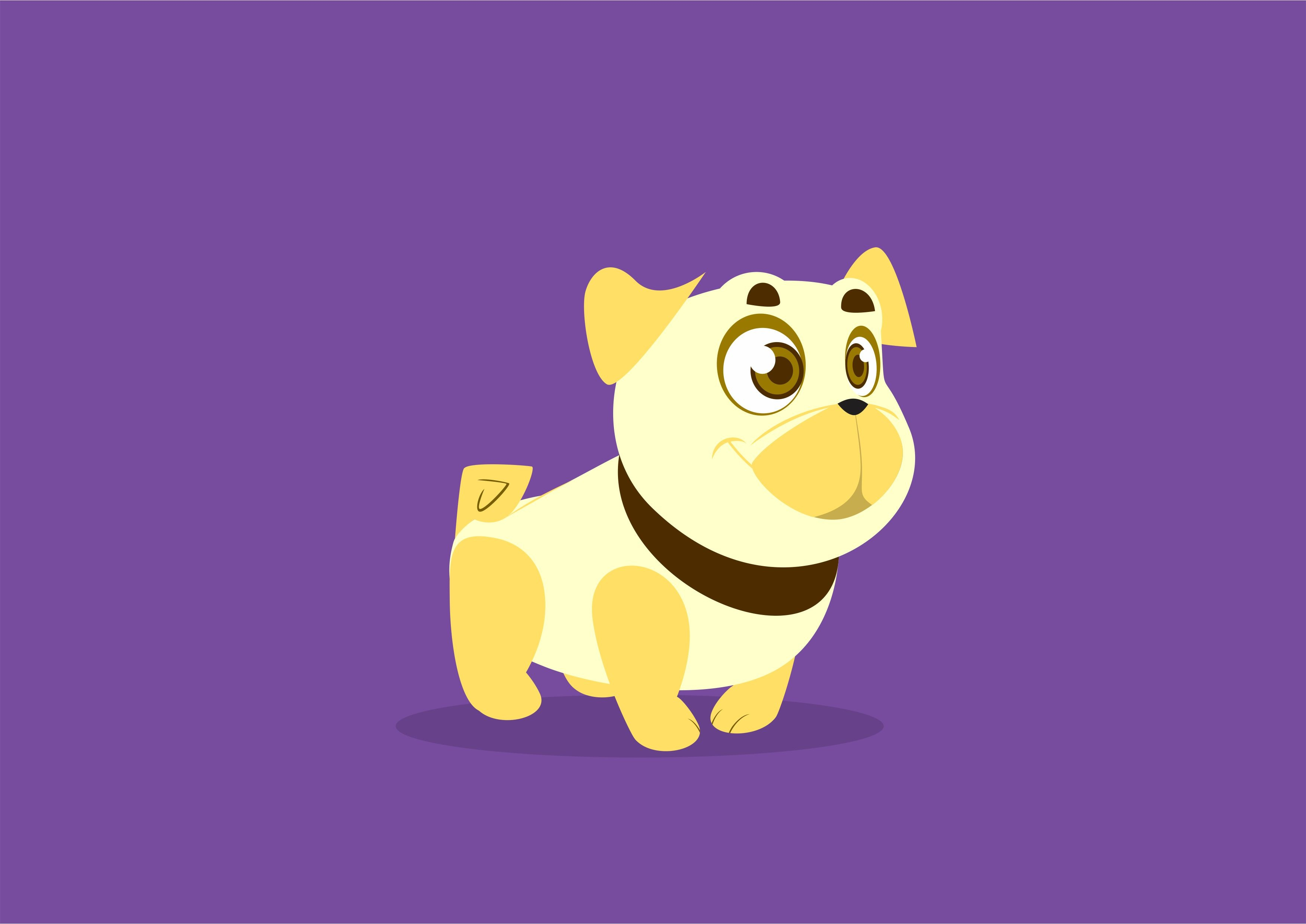 99923 download wallpaper Vector, Dog, Art, Nice, Sweetheart, Smile screensavers and pictures for free