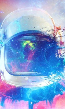 136135壁紙のダウンロード宇宙飛行士, コスモノート, 宇宙服, 色とりどり, モトリー, スペース, コズミック, 宇宙-スクリーンセーバーと写真を無料で