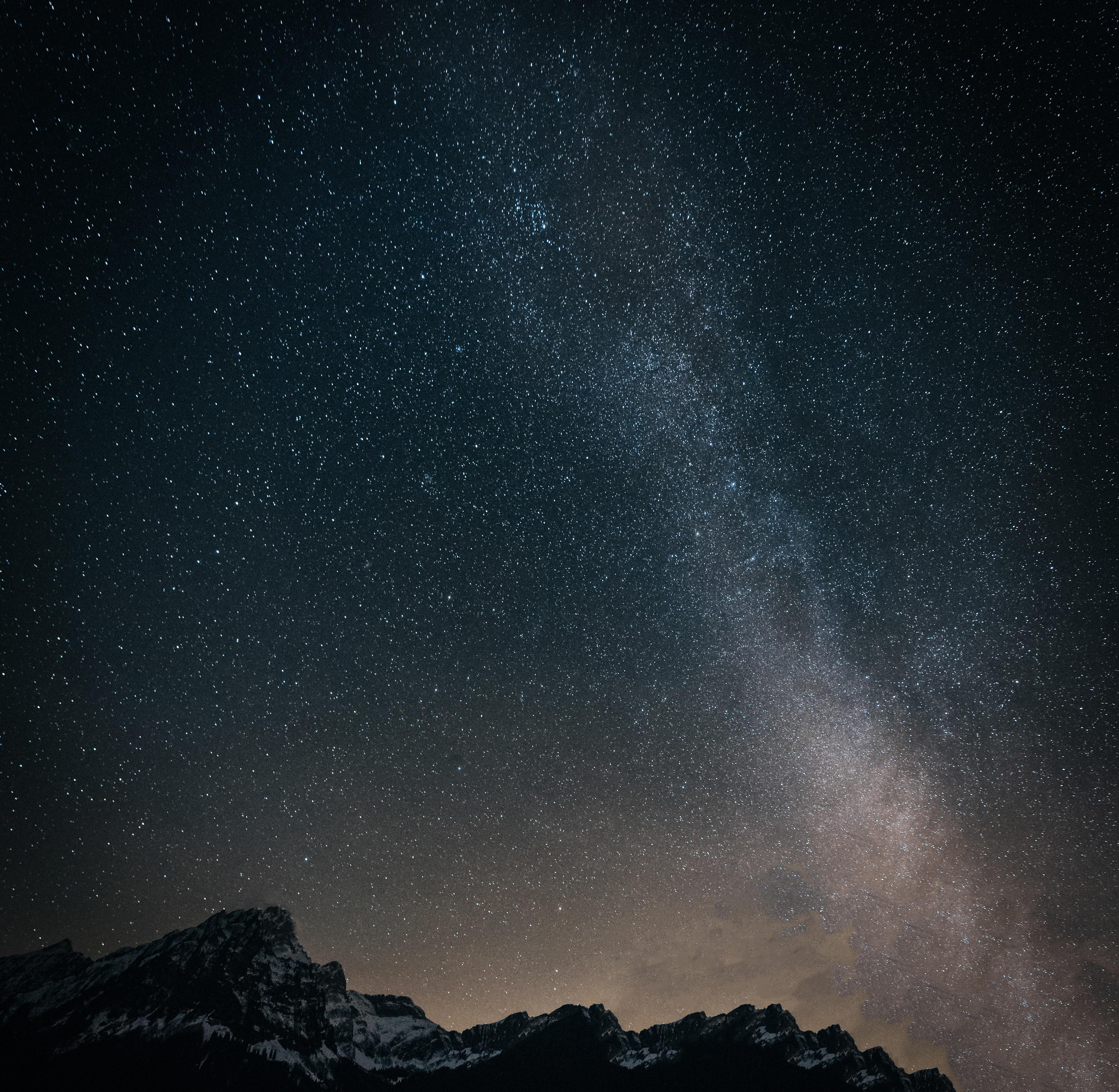 54231壁紙のダウンロード星空, 天の川, 山脈, 宇宙-スクリーンセーバーと写真を無料で