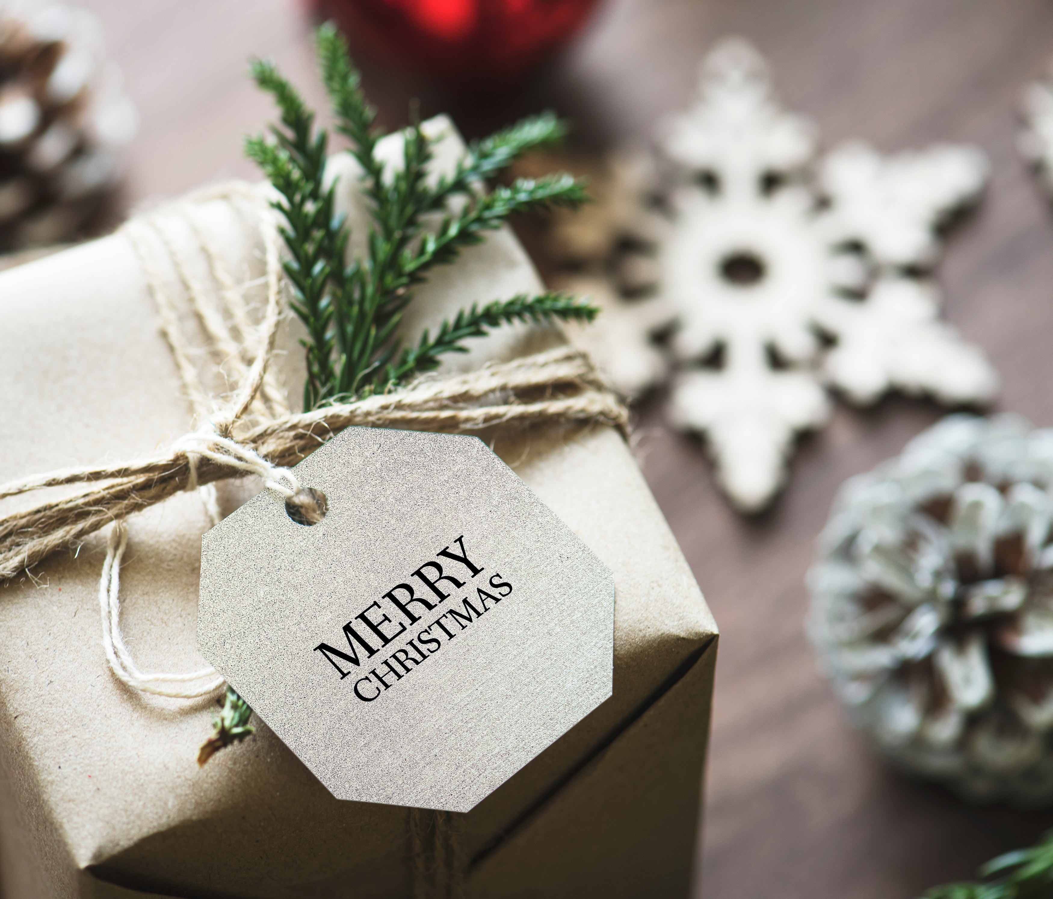 86611 download wallpaper Holidays, Present, Gift, Christmas, New Year, Tag, Box screensavers and pictures for free