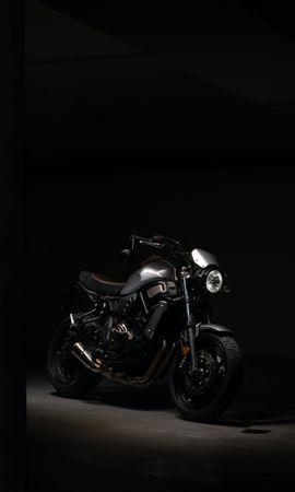 117572 télécharger le fond d'écran Moto, Motocyclette, Phare, Sombre - économiseurs d'écran et images gratuitement