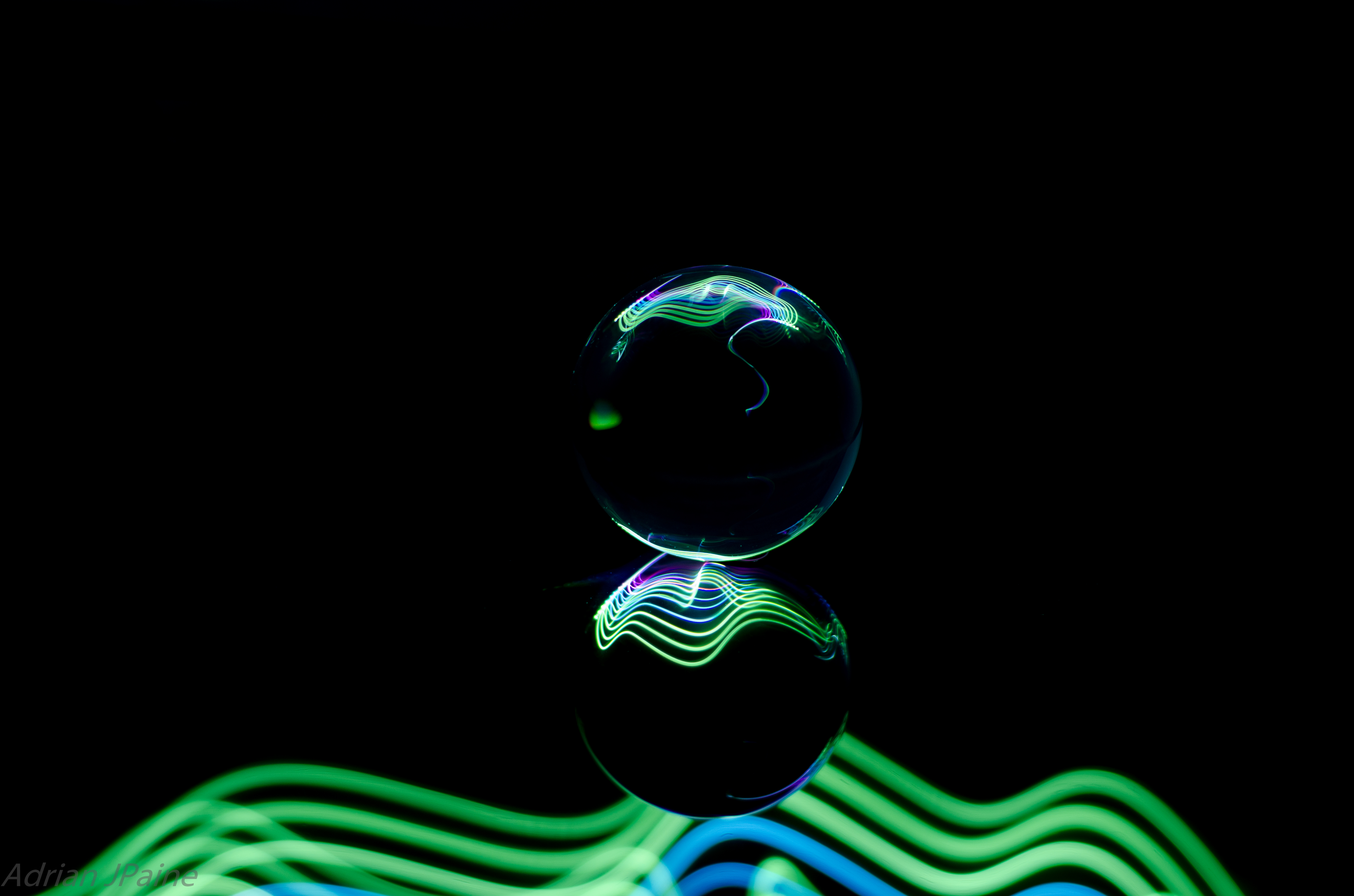 142448 download wallpaper Abstract, Ball, Wavy, Neon screensavers and pictures for free