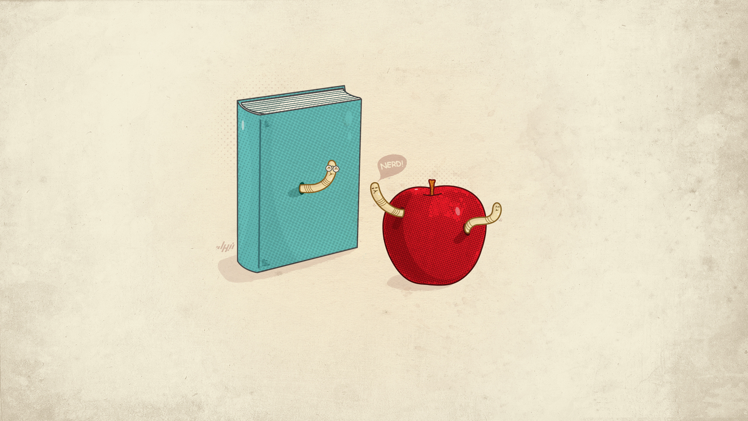 16826 download wallpaper Funny, Apples, Pictures, Books screensavers and pictures for free