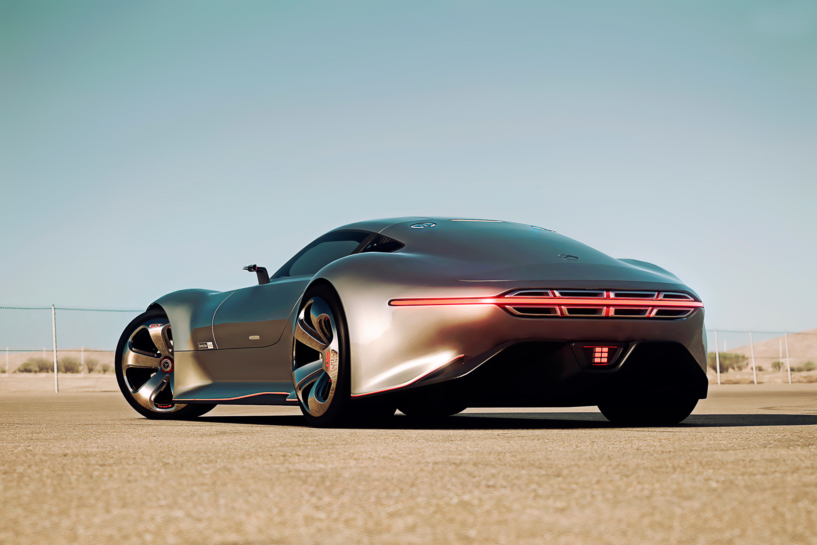155584 download wallpaper Cars, Mercedes-Benz, Gran Turismo, Amg Vision, Silver Stunner screensavers and pictures for free