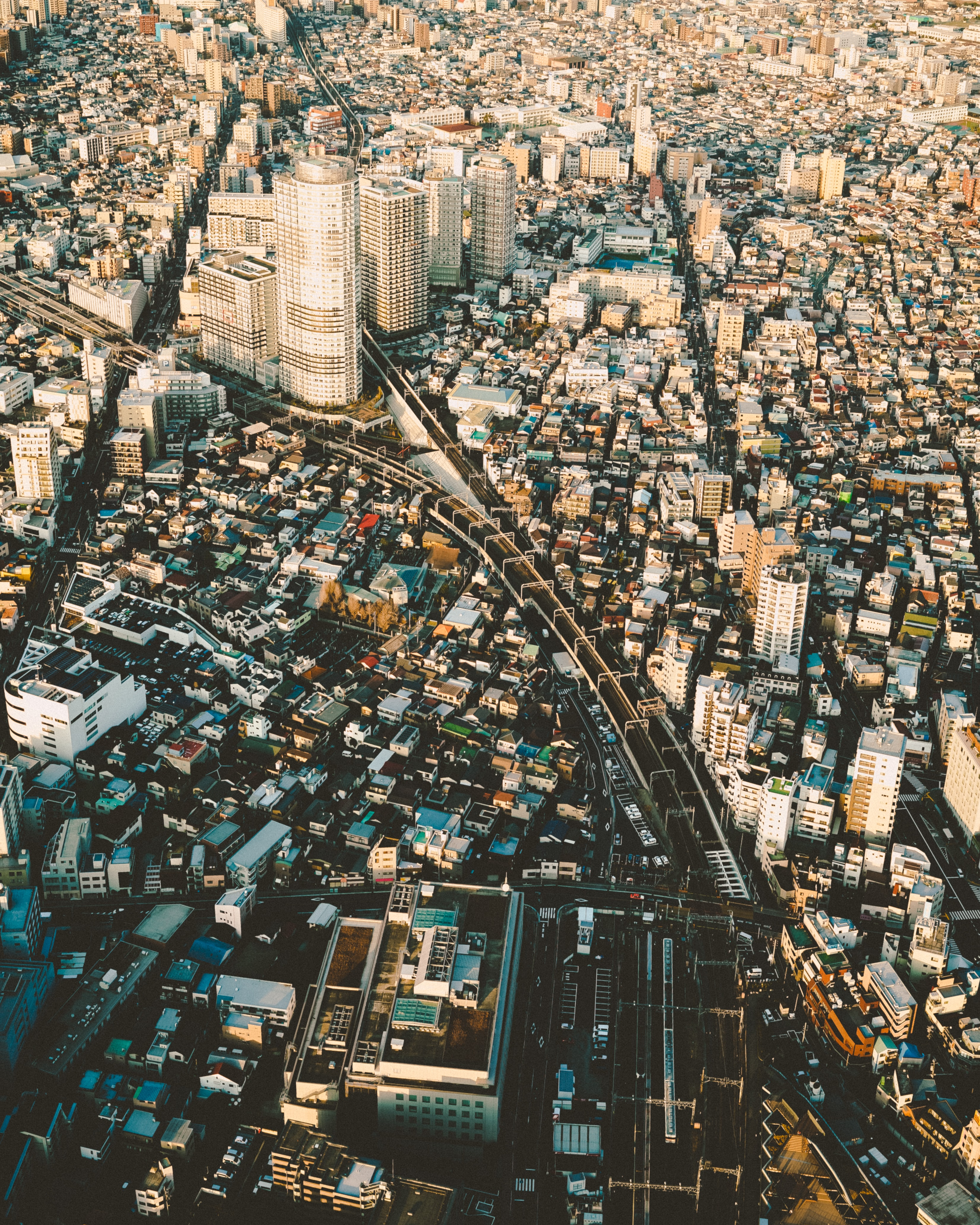 74442 Screensavers and Wallpapers Roads for phone. Download Cities, Roads, City, View From Above, Roof, Roofs pictures for free