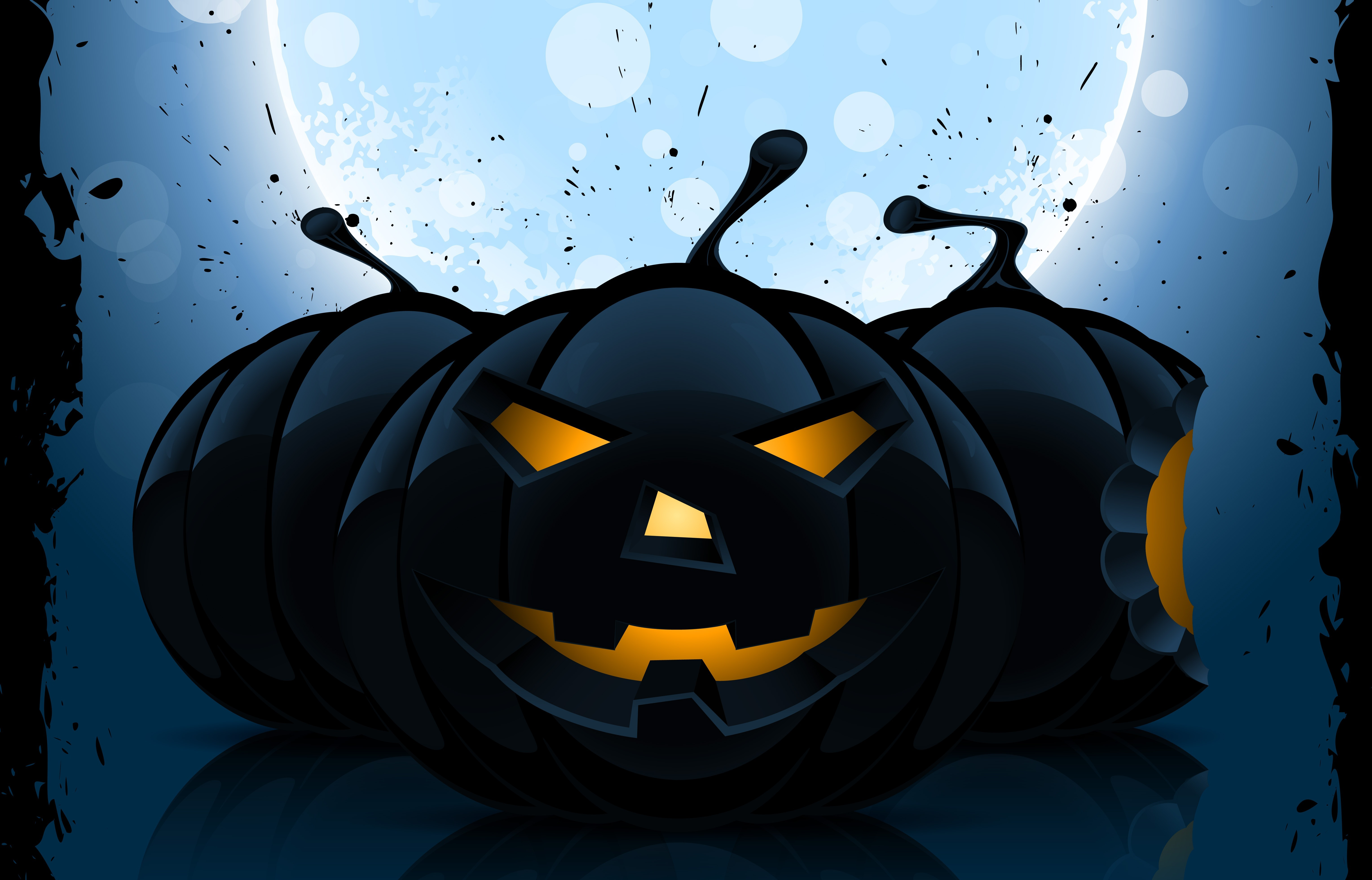 119923 download wallpaper Halloween, Pumpkin, Vector, Dark, Picture, Drawing screensavers and pictures for free