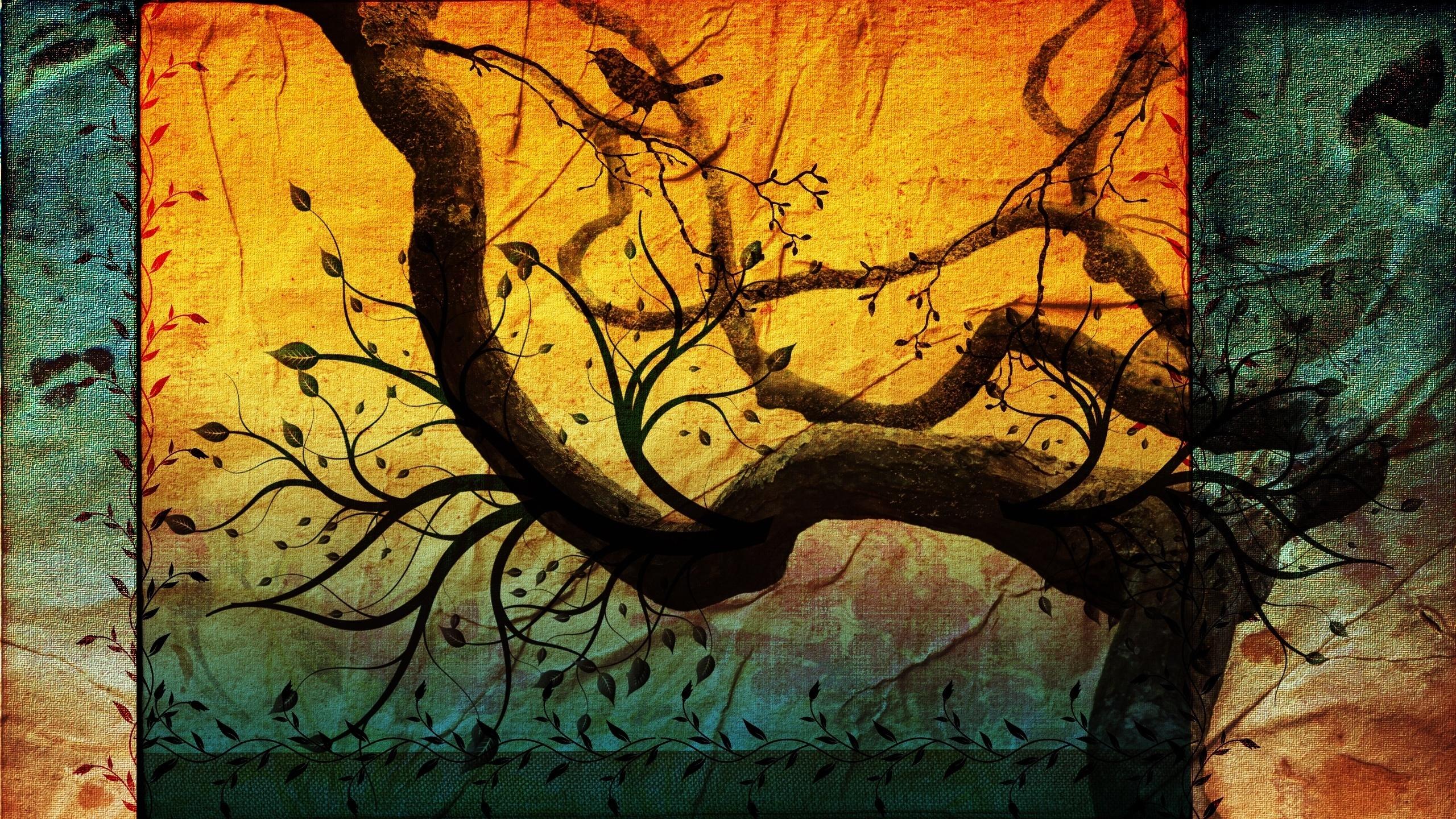Скачать картинку Деревья, Фон, Рисунки в телефон бесплатно.