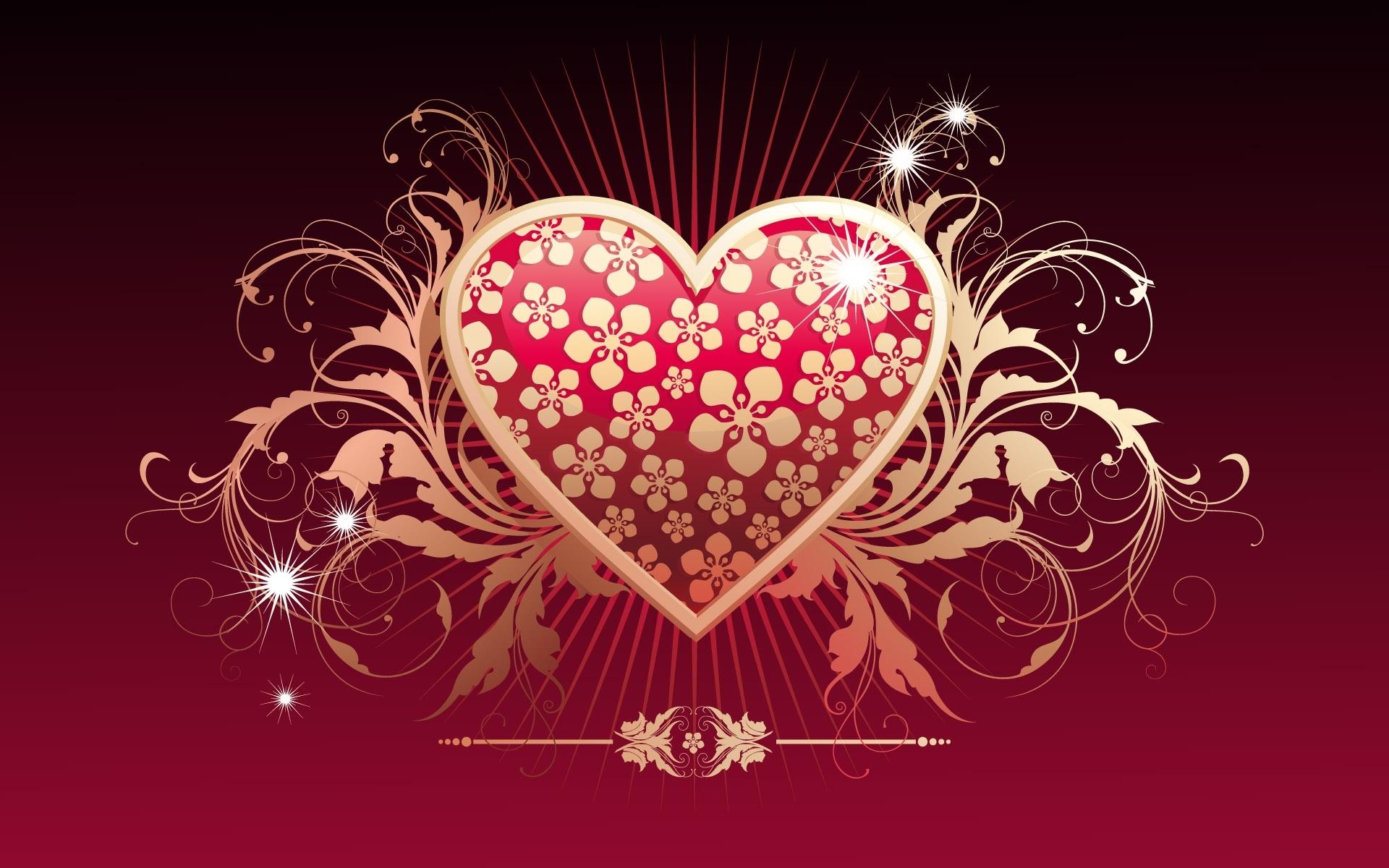 8912 скачать обои Сердца, Любовь, День Святого Валентина (Valentine's Day), Рисунки - заставки и картинки бесплатно
