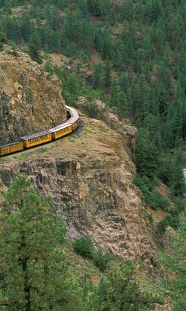 3336 télécharger le fond d'écran Transports, Paysage, Rivières, Arbres, Montagnes, Trains - économiseurs d'écran et images gratuitement