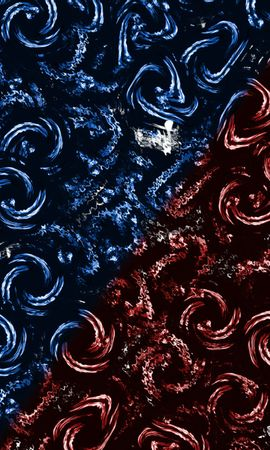 142496壁紙のダウンロード抽象, スパイラル, サークル, 円, 渦巻く, インボリュート, 青い, 赤い-スクリーンセーバーと写真を無料で