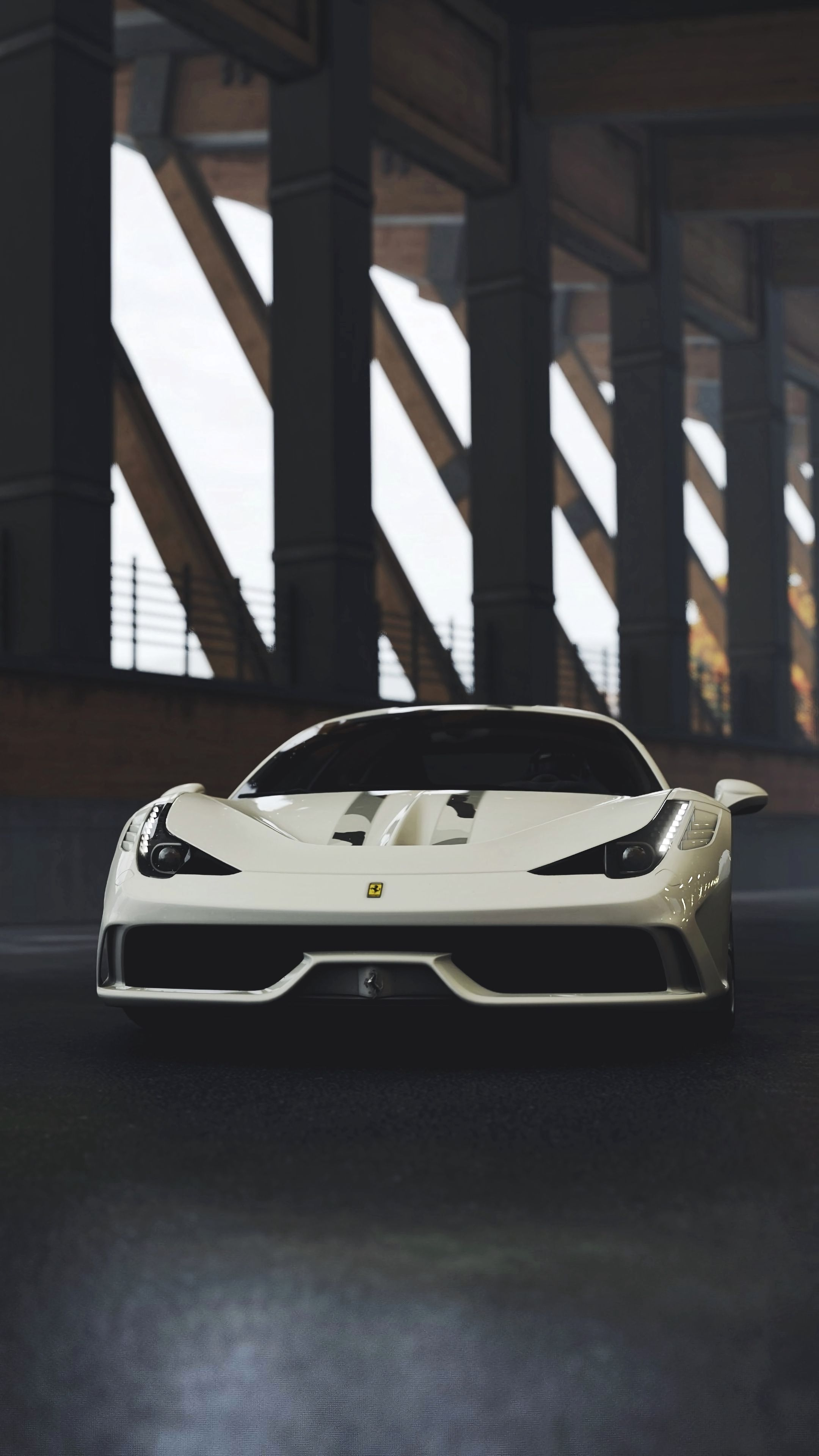 119308 Screensavers and Wallpapers Races for phone. Download Sports, Races, Ferrari, Cars, Front View, Sports Car, Ferrari 458 pictures for free