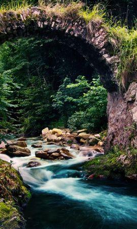 24726 скачать обои Пейзаж, Река, Мосты - заставки и картинки бесплатно