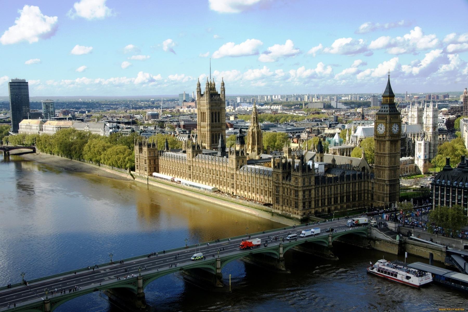 23841 скачать обои Пейзаж, Города, Река, Архитектура, Лондон, Биг Бен (Big Ben) - заставки и картинки бесплатно