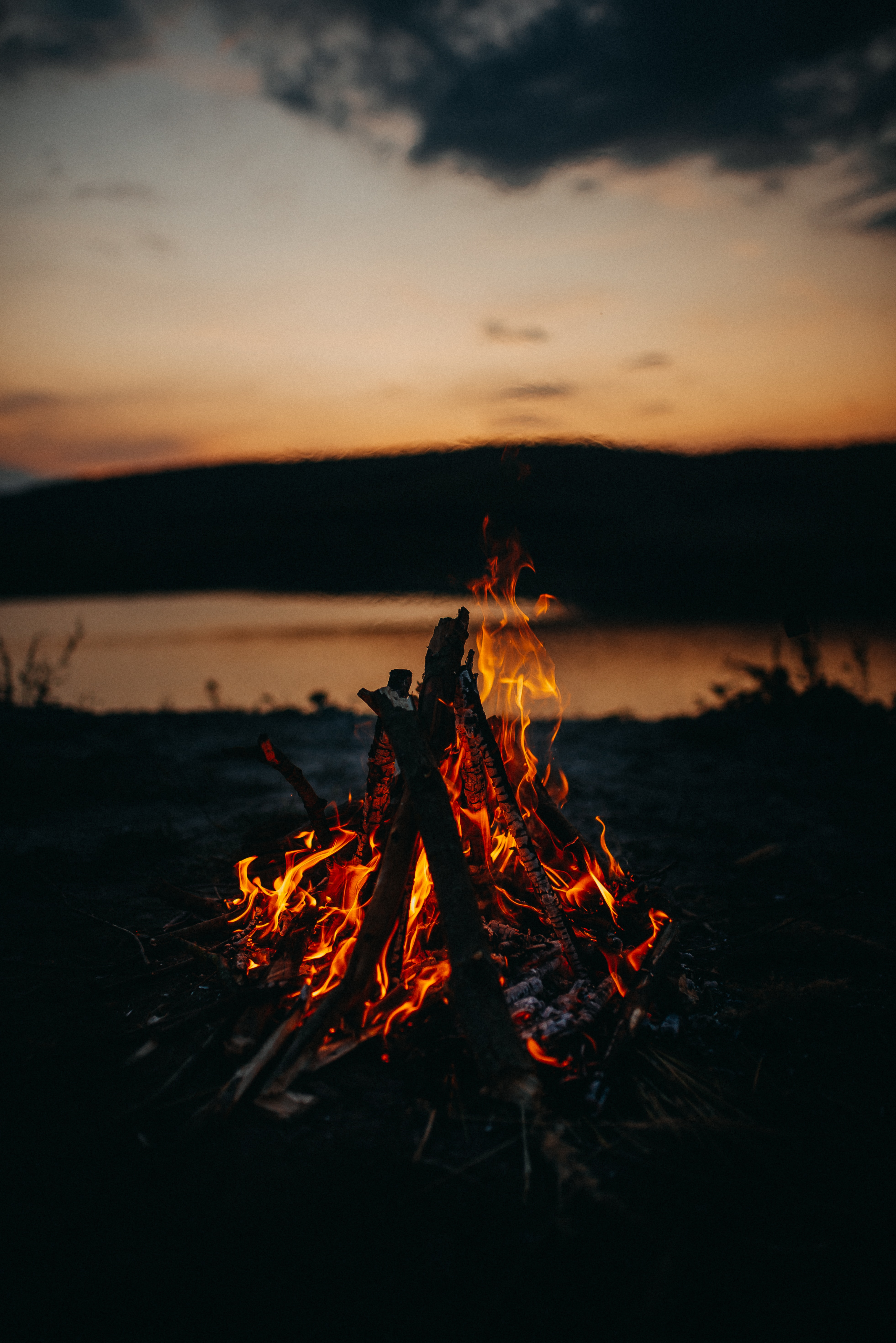 157460 Screensavers and Wallpapers Bonfire for phone. Download Twilight, Fire, Bonfire, Dark, Flame, Dusk pictures for free