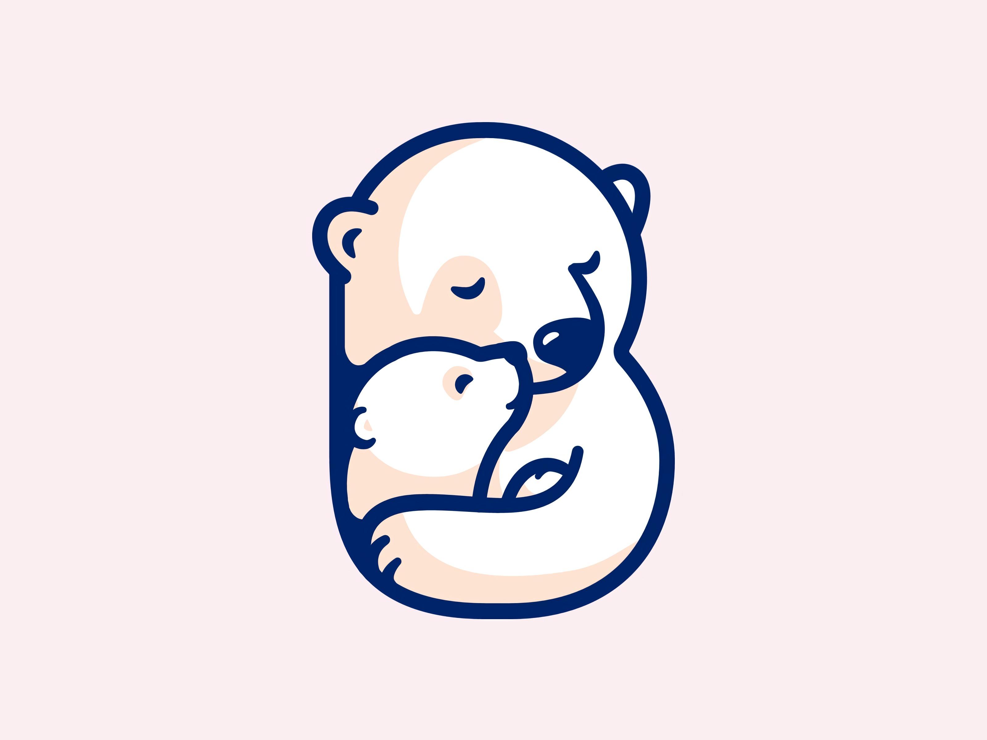 117294 Заставки и Обои Медведи на телефон. Скачать Вектор, Арт, Медведи, Объятия, Медвежонок картинки бесплатно