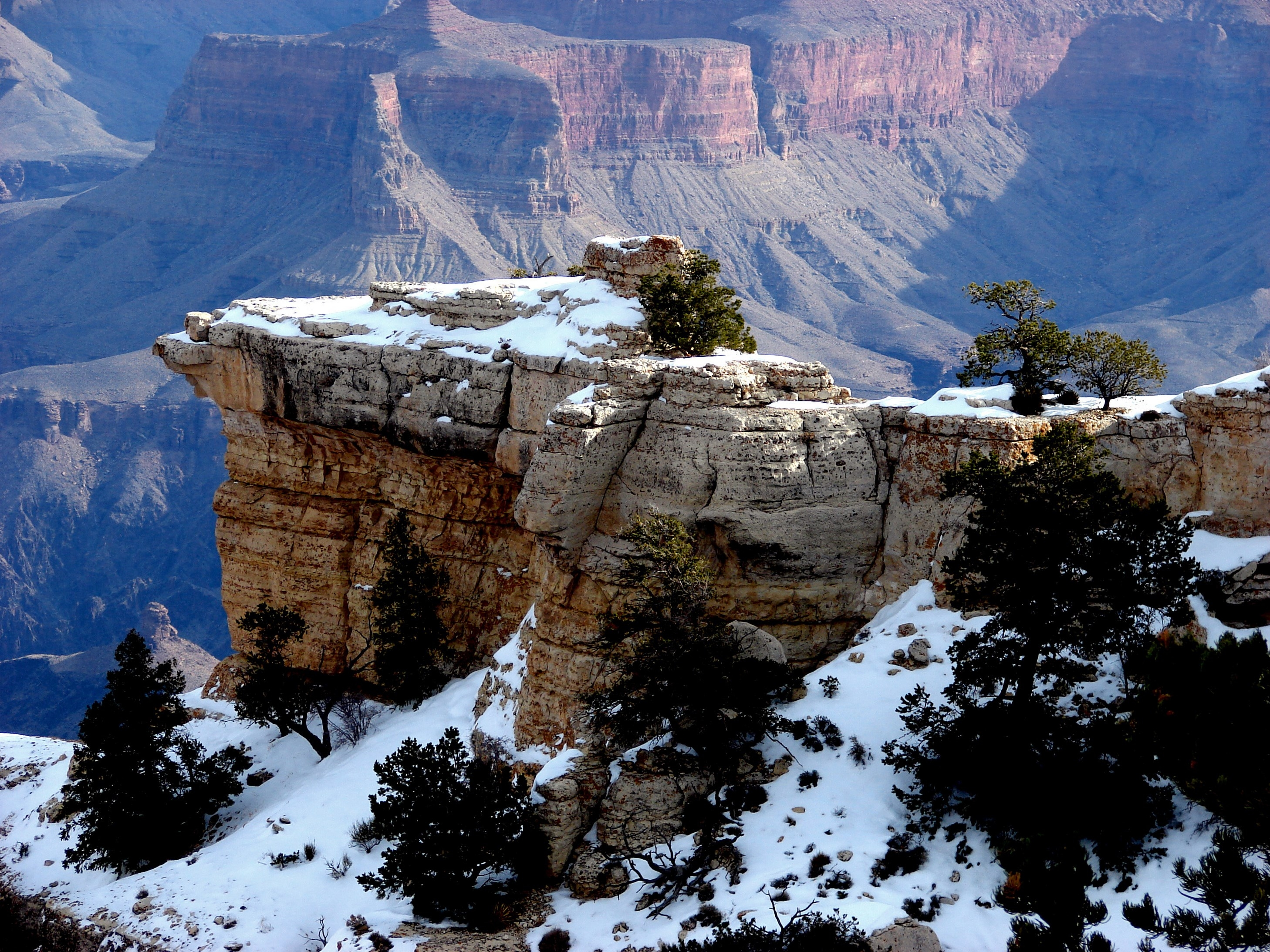 65031 download wallpaper Nature, Rocks, Snow, Trees, Mountains, Landscape screensavers and pictures for free