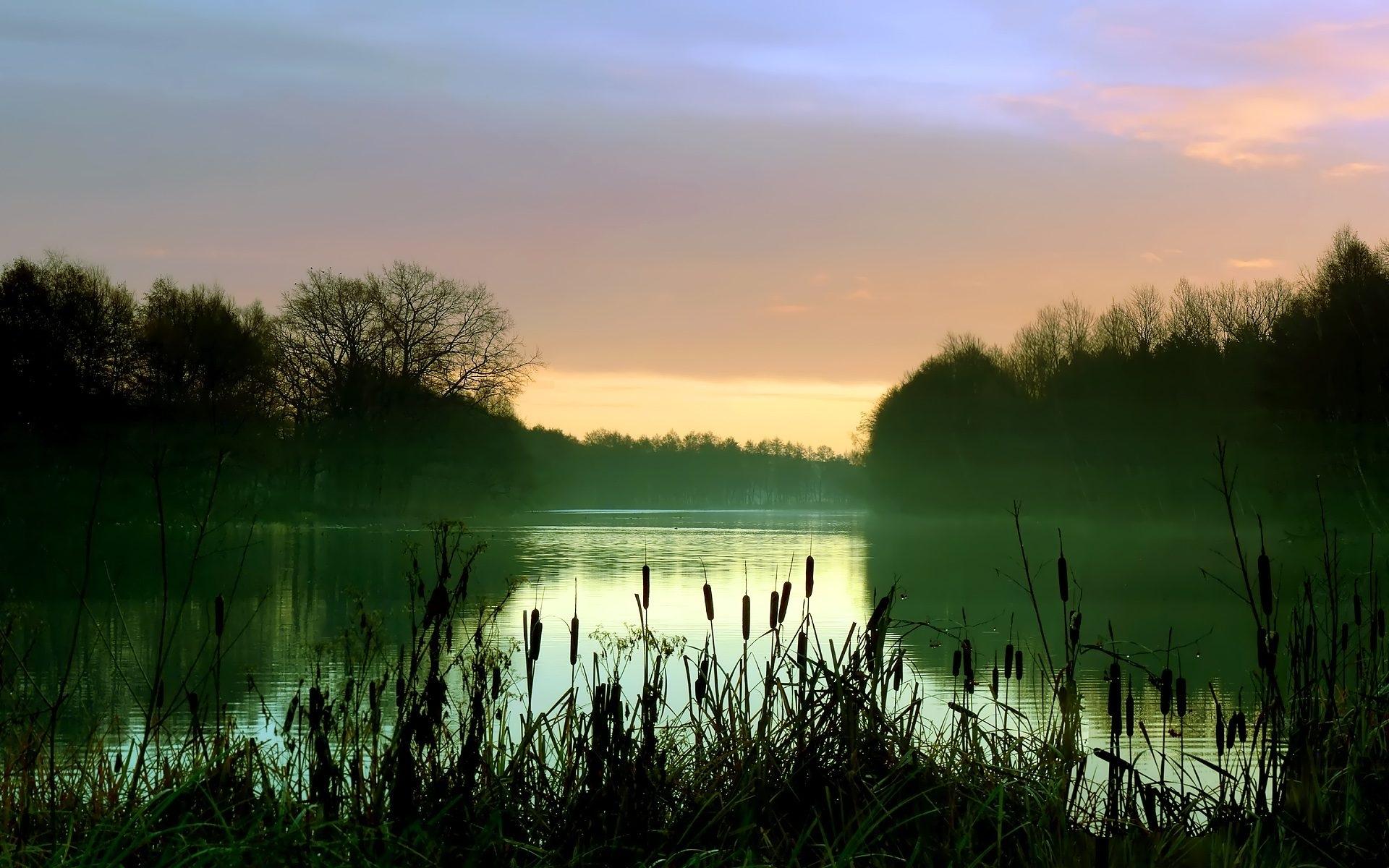 Скачать картинку Пейзаж, Река, Закат в телефон бесплатно.