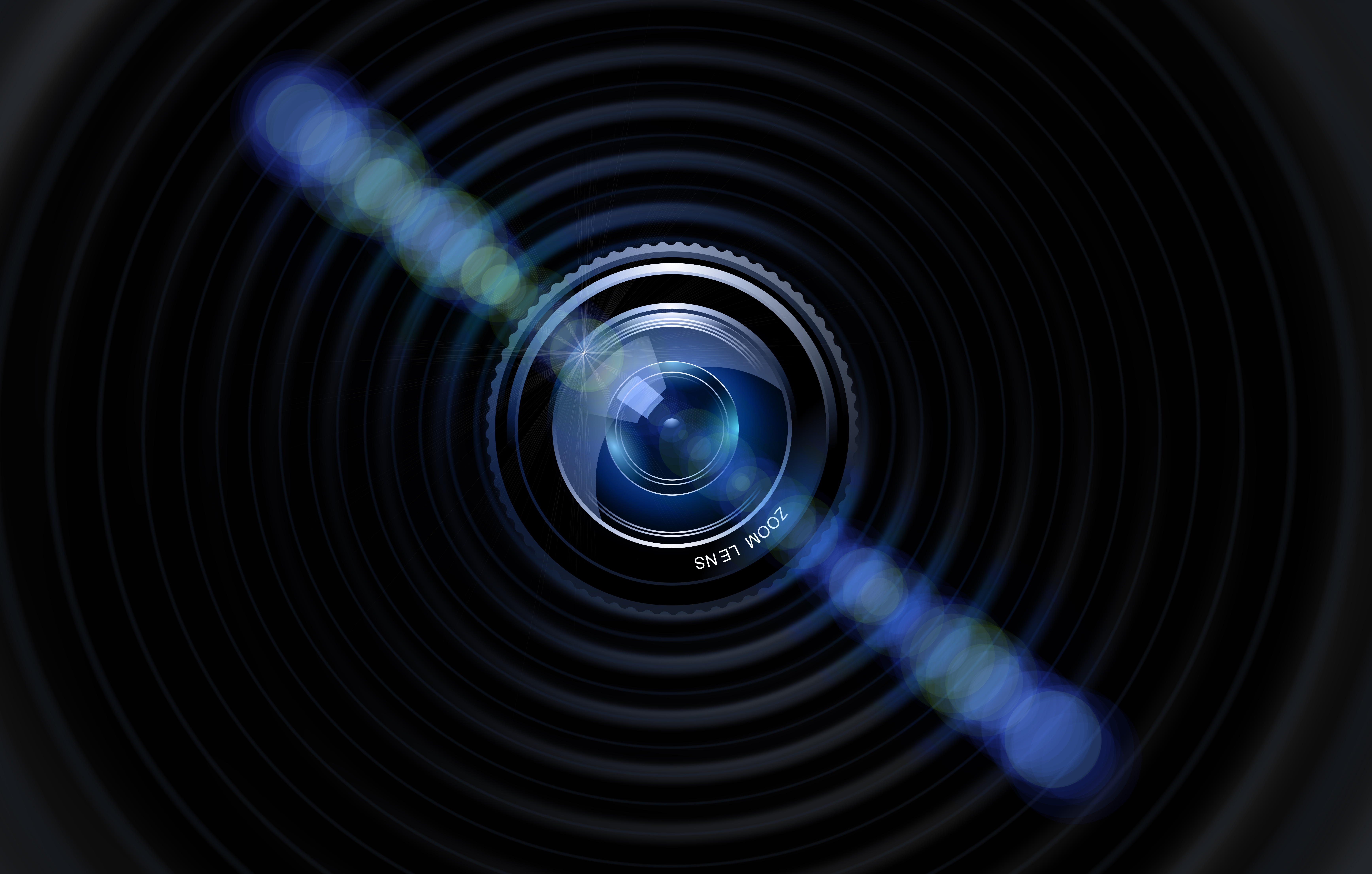 79736 download wallpaper Dark, Glare, Lens, Bokeh, Boquet, Camera screensavers and pictures for free