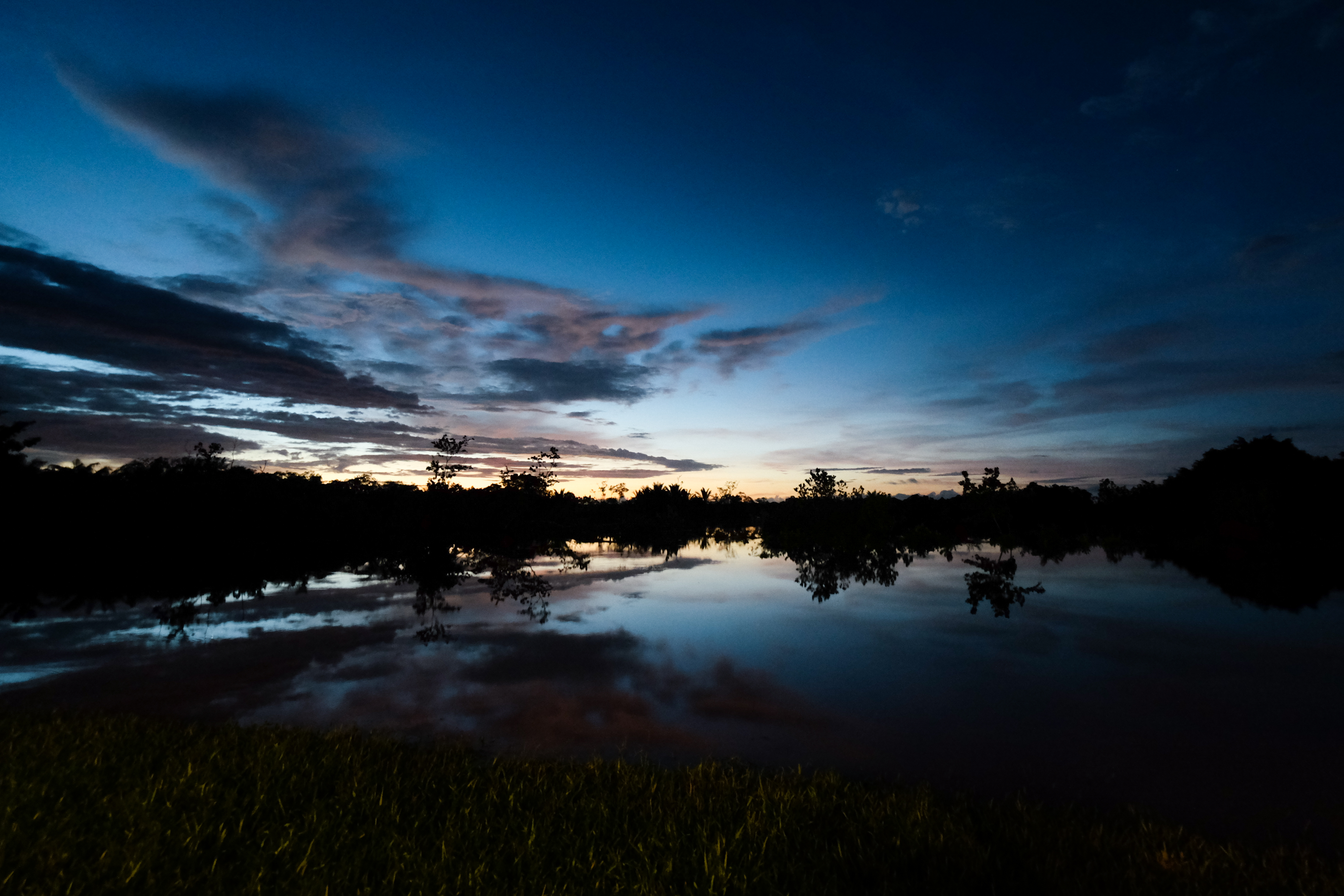 112882 download wallpaper Nature, Lake, Dusk, Twilight, Trees, Reflection, Evening screensavers and pictures for free