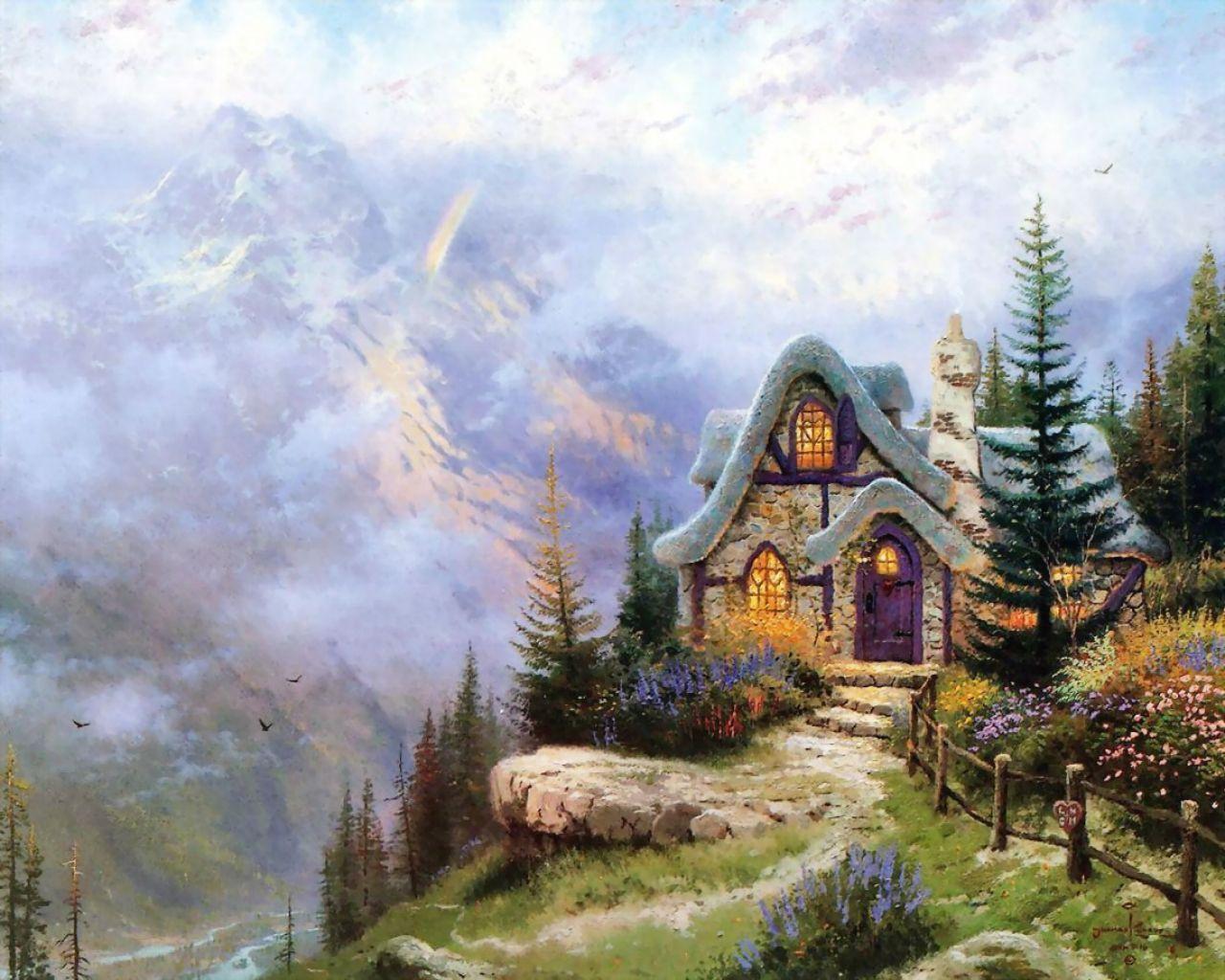 14405 скачать обои Пейзаж, Дома, Рисунки - заставки и картинки бесплатно