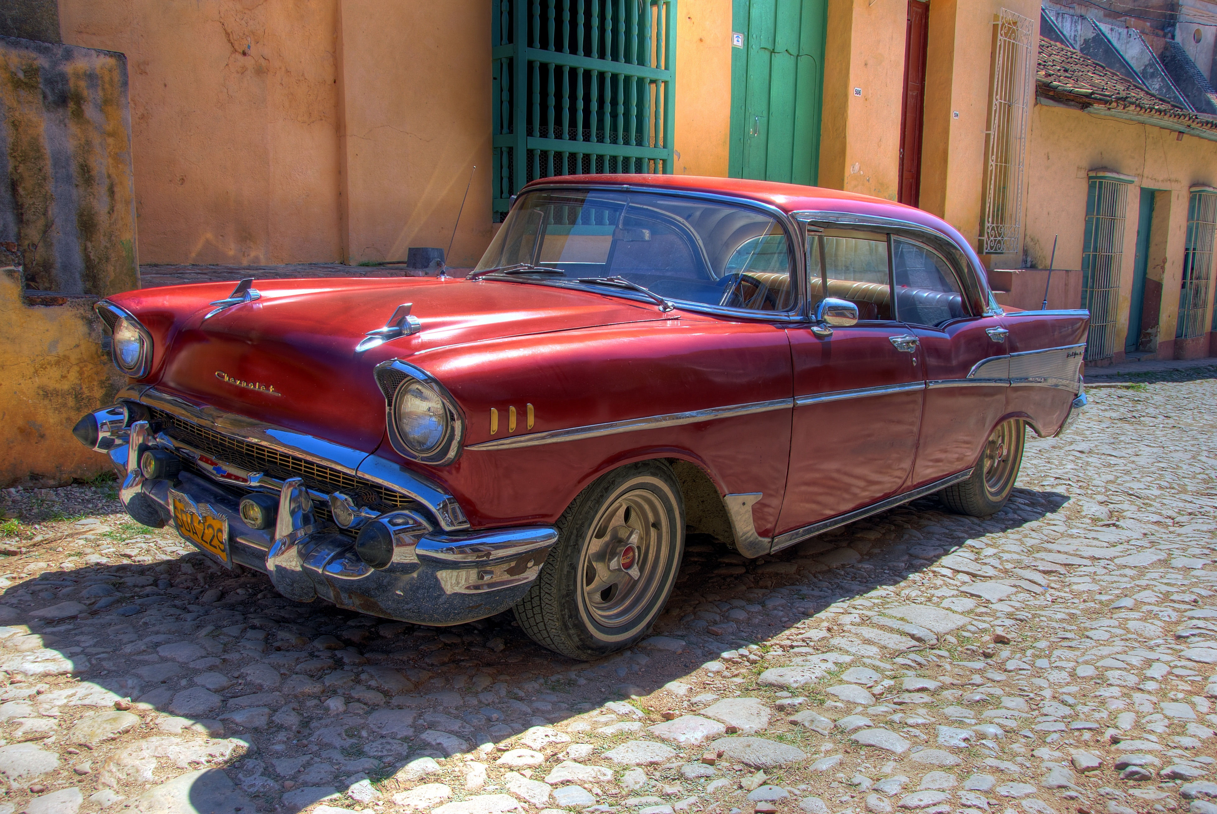 154699 download wallpaper Chevrolet, Cars, Car, Machine, Old, Retro, Cuba, Havana screensavers and pictures for free