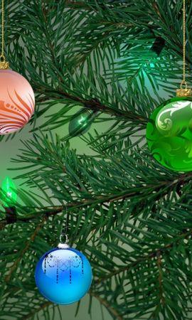 42312 télécharger le fond d'écran Plantes, Nouvelle Année, Sapins - économiseurs d'écran et images gratuitement