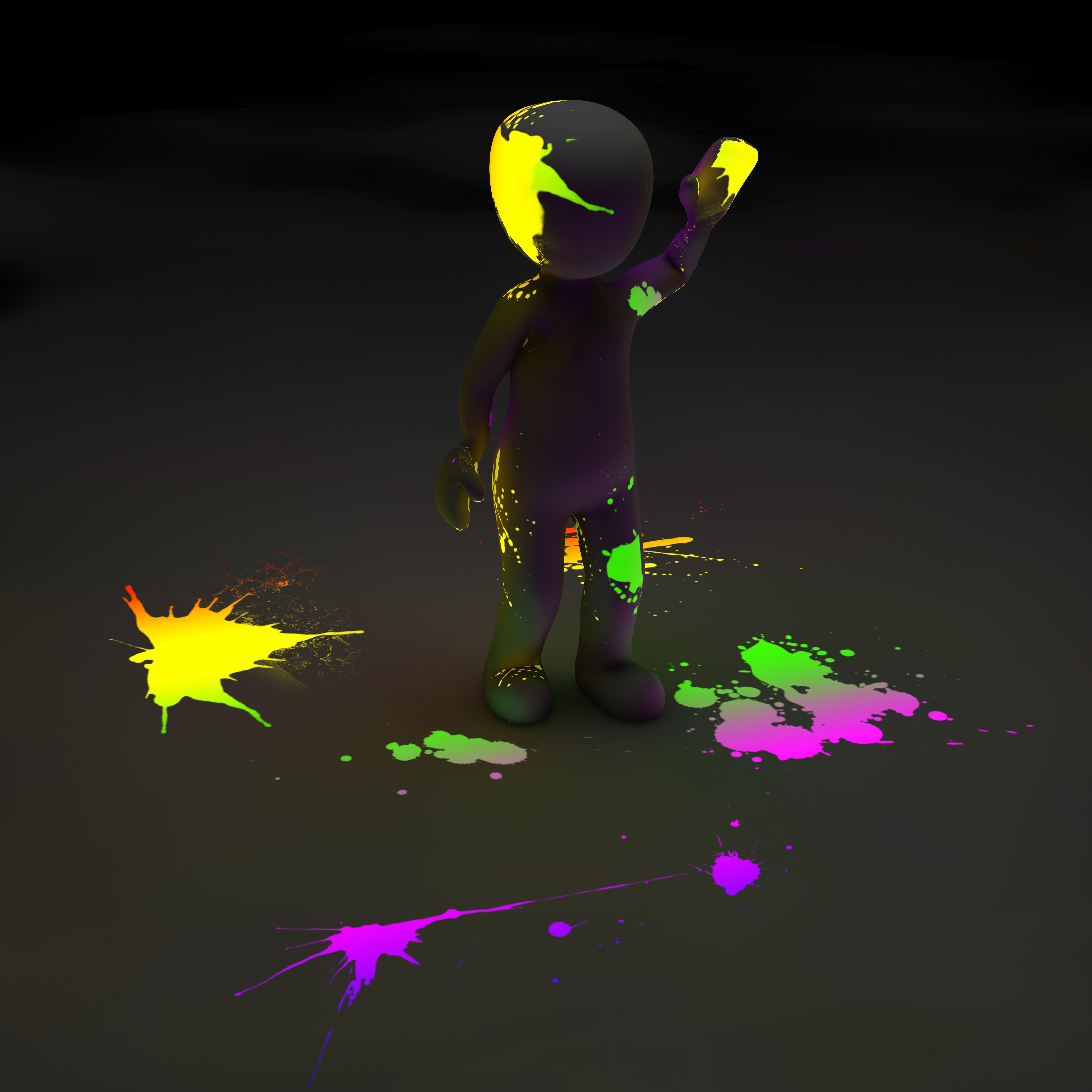 52024 économiseurs d'écran et fonds d'écran 3D sur votre téléphone. Téléchargez 3D, Peindre, Peinture, Néon, Taches, Humain, Personne, Clipart, Luminescence, Fluorescence images gratuitement