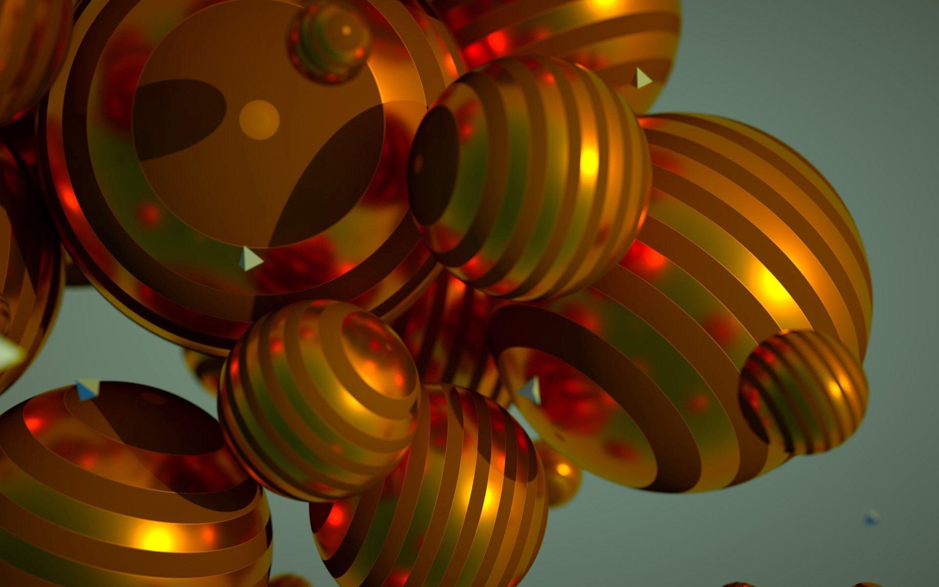 72528 Hintergrundbild herunterladen Kreise, 3D, Gestreift, Flug, Bälle, Abmessungen (Bearbeiten), Dimension - Bildschirmschoner und Bilder kostenlos