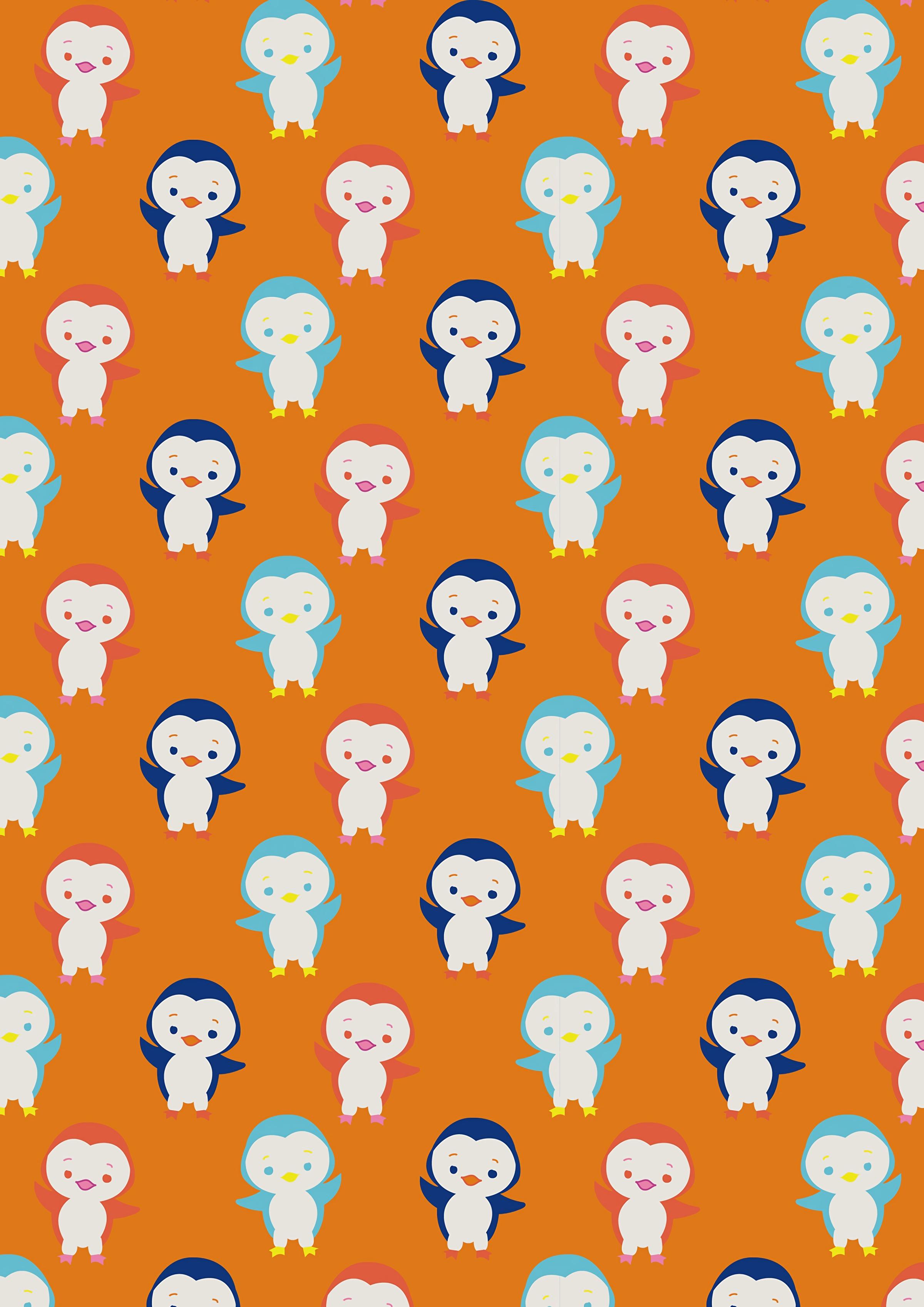 手機的132721屏保和壁紙搞笑。 免費下載 纹理, 可爱的, 可爱, 图案, 形态, 有趣的, 搞笑, 多彩多姿, 五颜六色, 企鹅 圖片